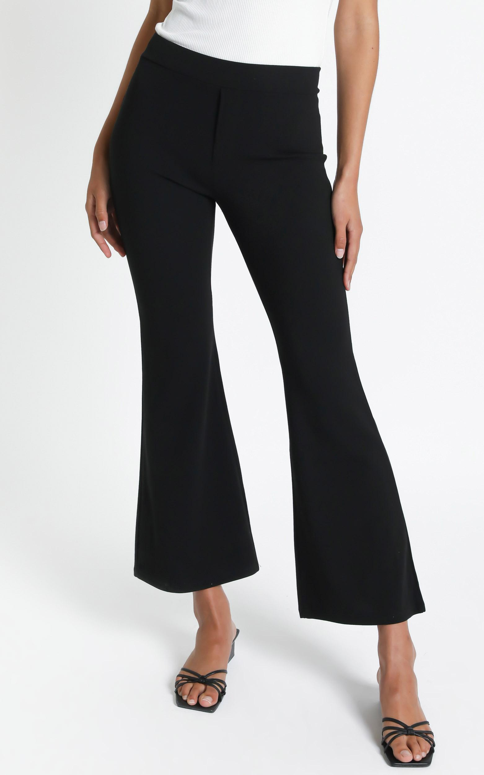Connor Flared Pants in Black - S, Black, hi-res image number null