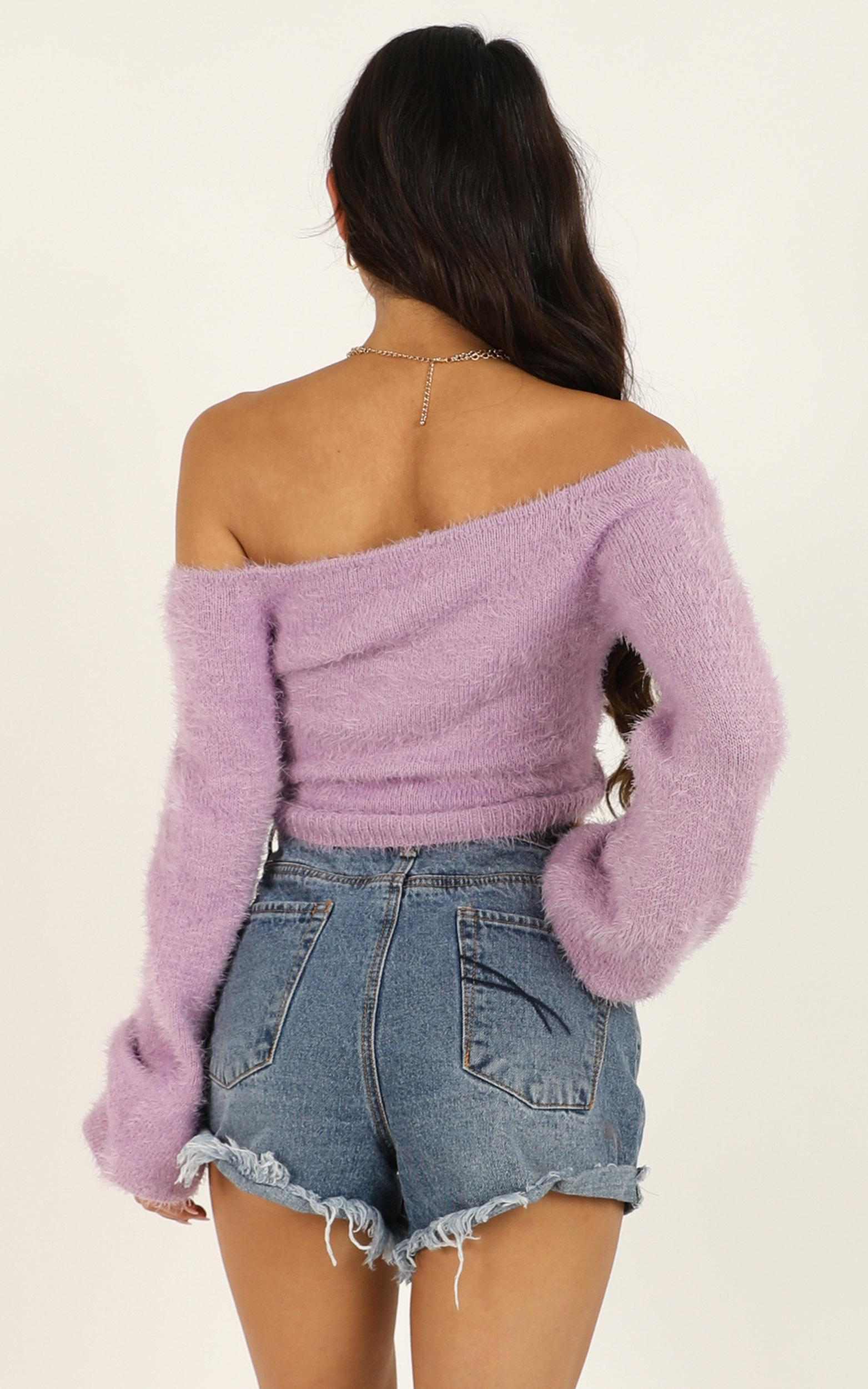 Accepting You knit top in lilac - 12 (L), Purple, hi-res image number null