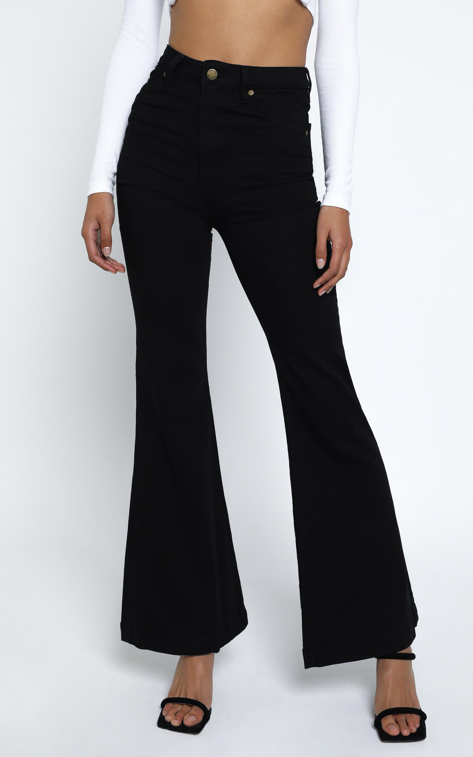 Rollas - Eastcoast Denim Flare in Galaxy Black - 14 (XL), BLK1, hi-res image number null