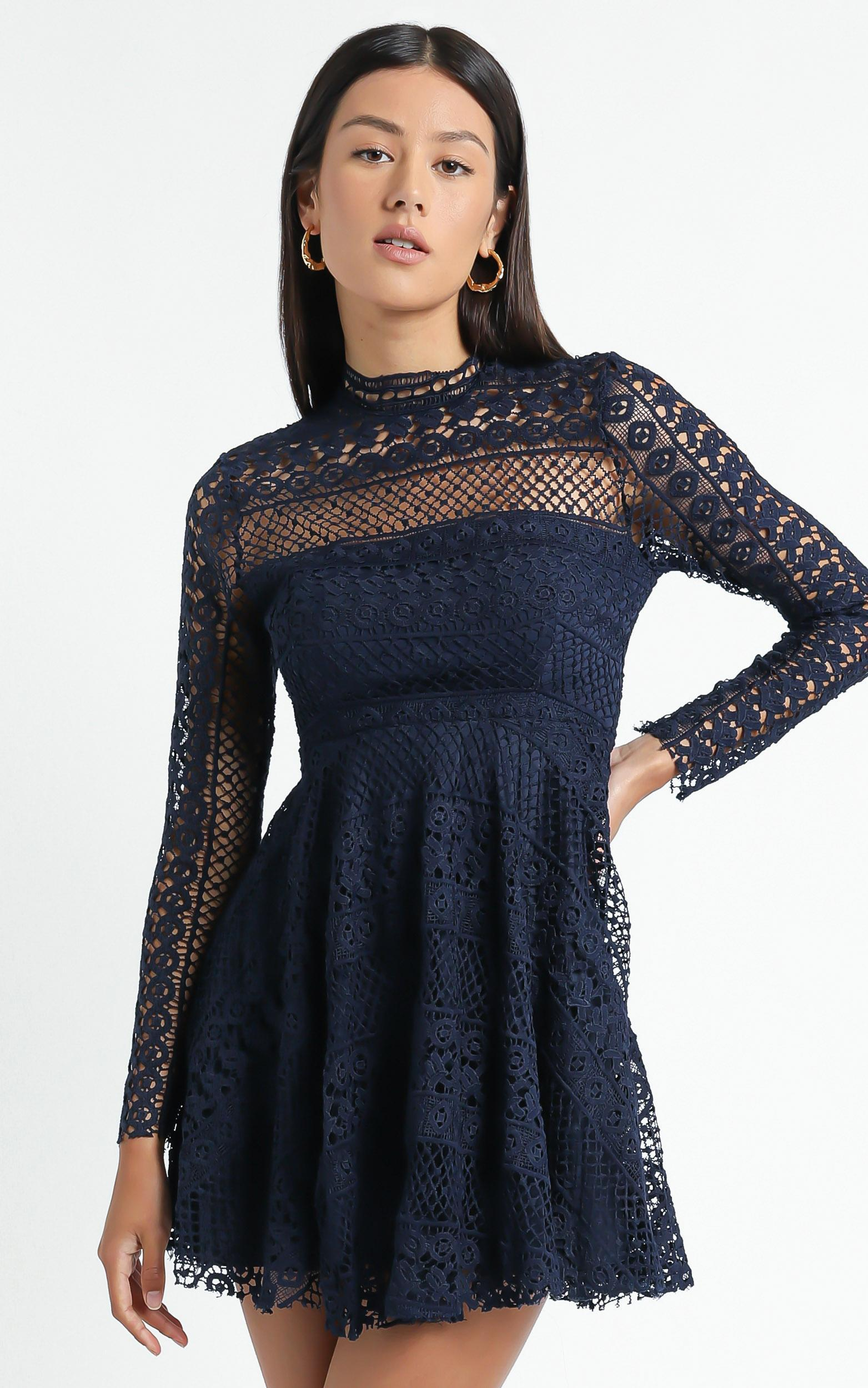 Hidden Figures Dress in navy lace - 4 (XXS), Navy, hi-res image number null