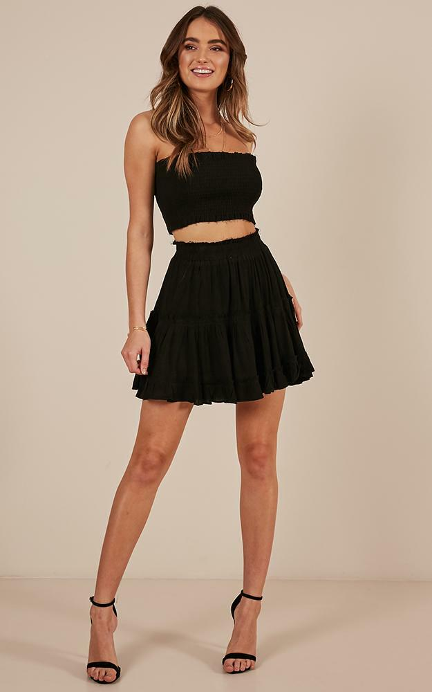 Outside the Line Two Piece Set in black - 20 (XXXXL), Black, hi-res image number null