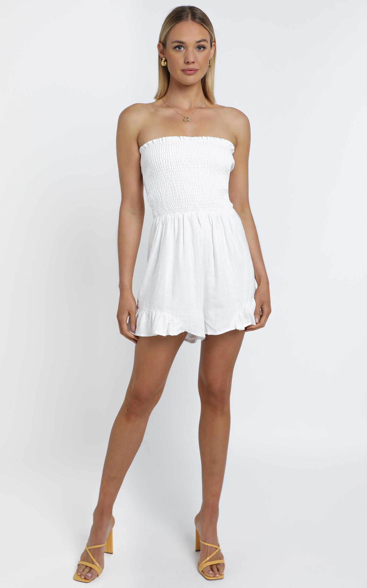 Leo Playsuit in White - 12 (L), WHT1, hi-res image number null