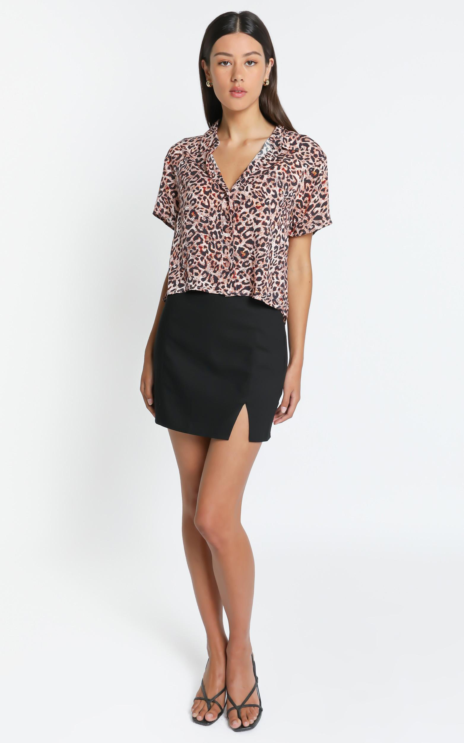 Astra Stars Shirt In  Leopard - 6 (XS), BRN1, hi-res image number null
