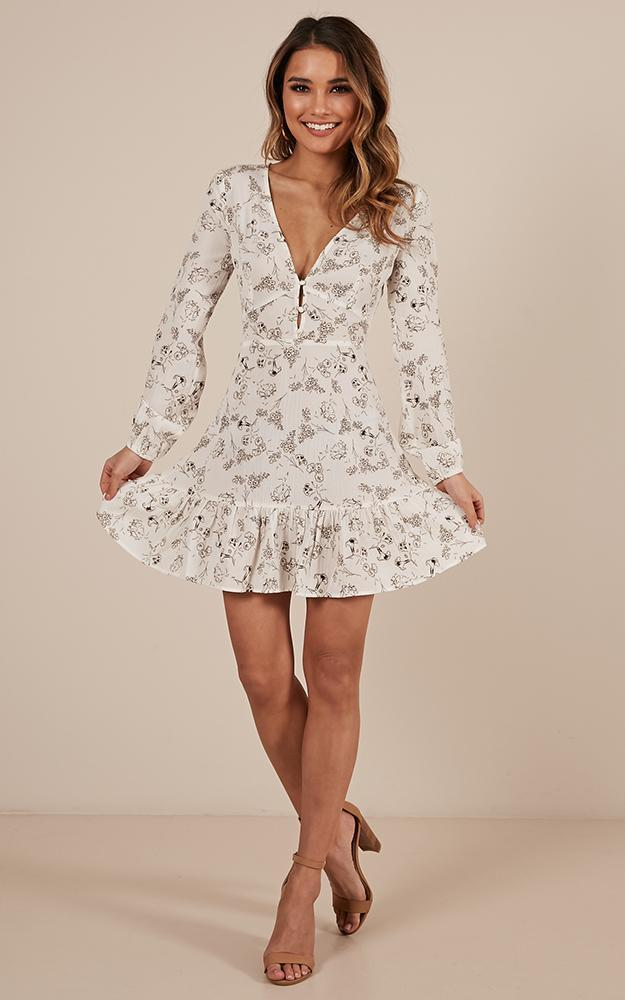 Sweeter Dreams Dress in white floral - 20 (XXXXL), White, hi-res image number null