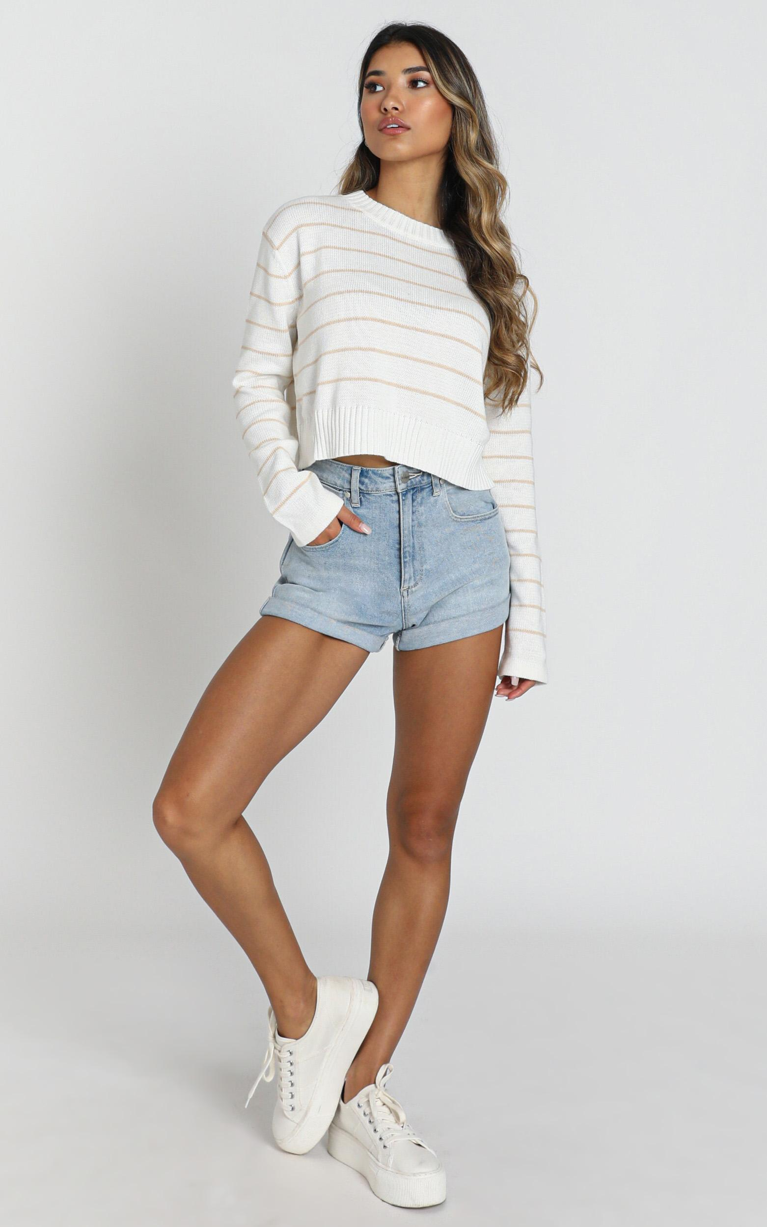 sweeter with love Knit Jumper in white - 20 (XXXXL), White, hi-res image number null