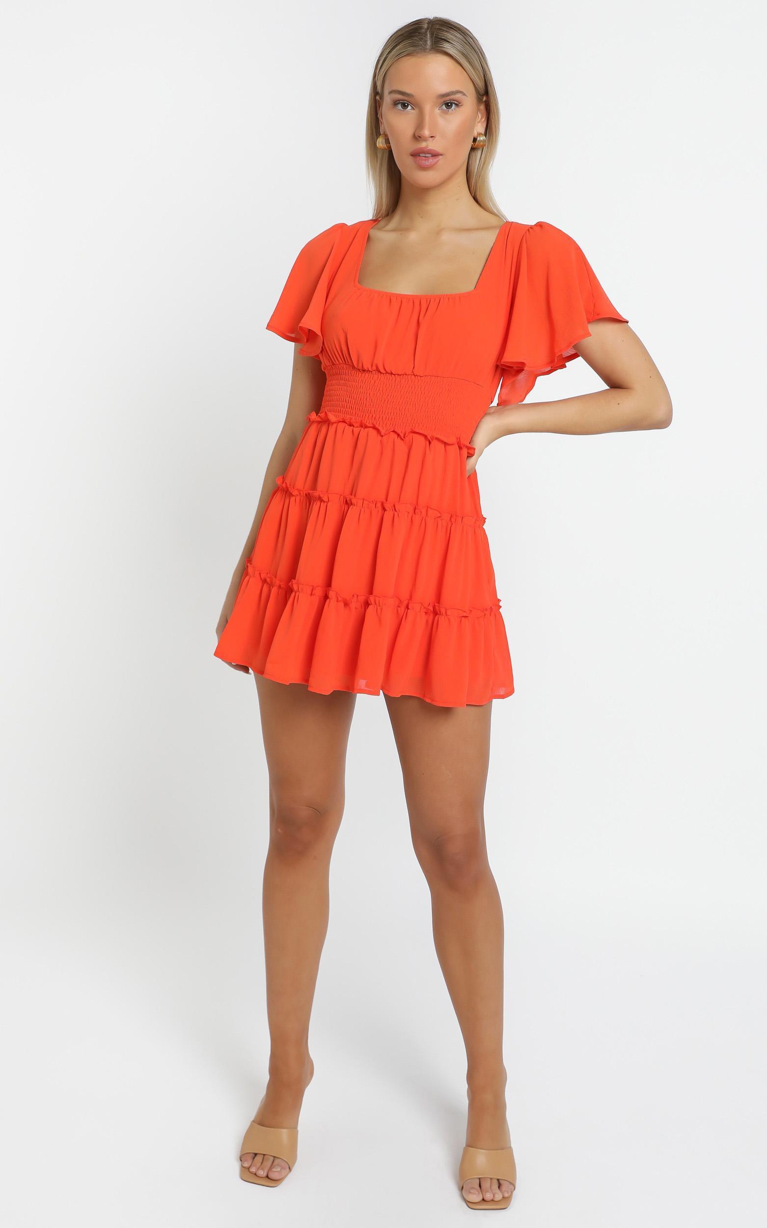 Kelsey Dress in Orange - 12 (L), Orange, hi-res image number null