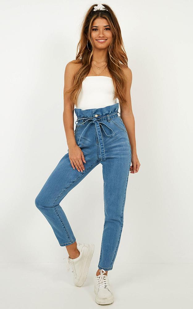 Mikey Jeans in mid wash denim - 20 (XXXXL), Blue, hi-res image number null