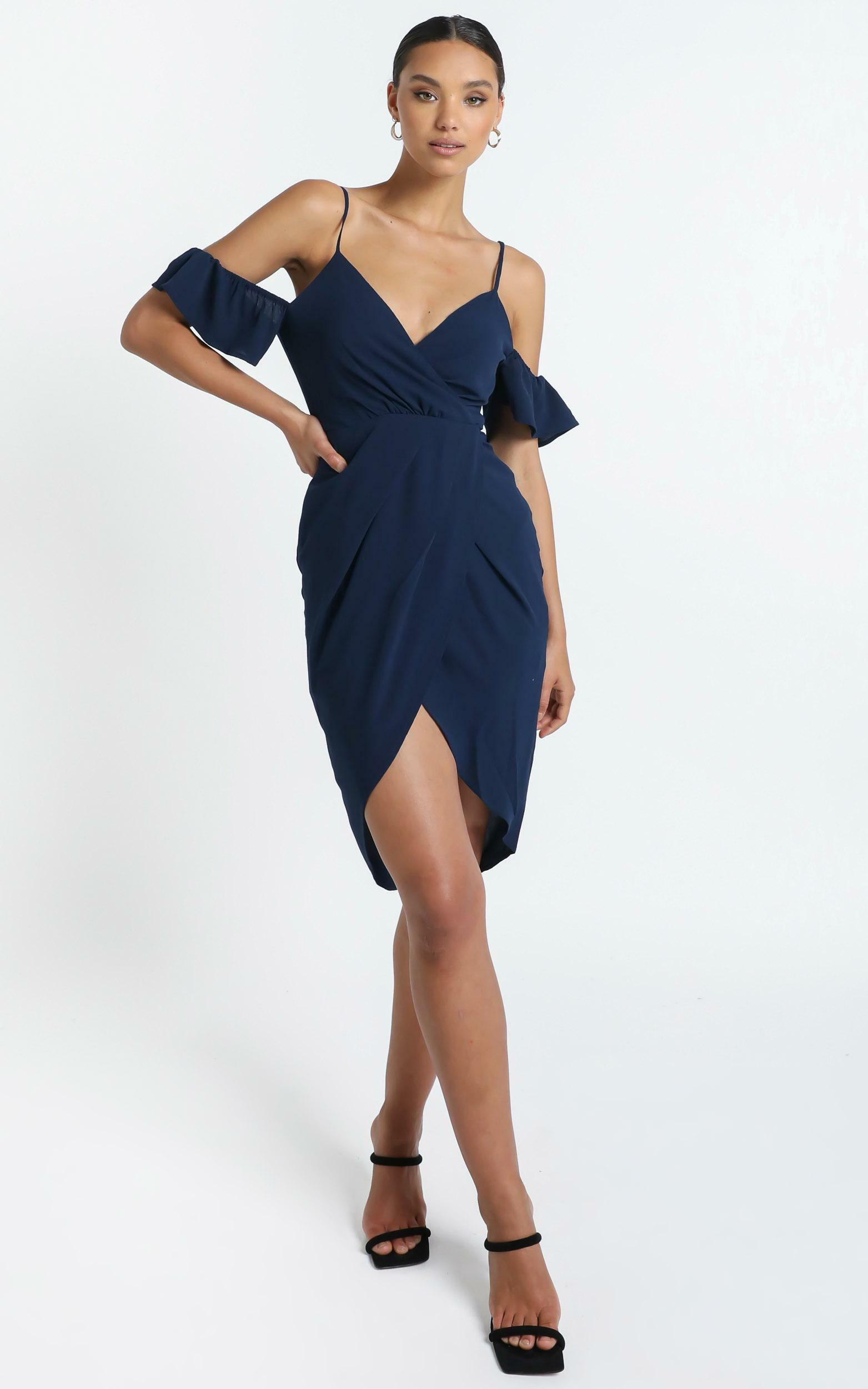 A Fair Go Dress In Navy - 4 (XXS), Navy, hi-res image number null