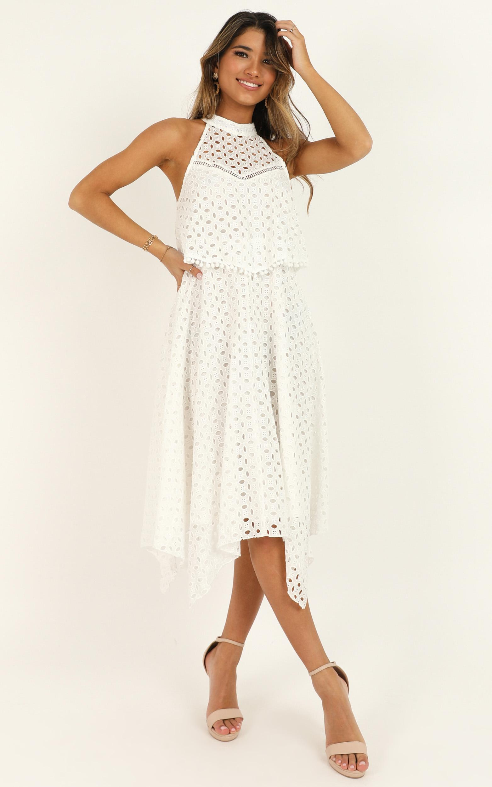 You May Say Im a Dreamer Dress in white - 12 (L), White, hi-res image number null