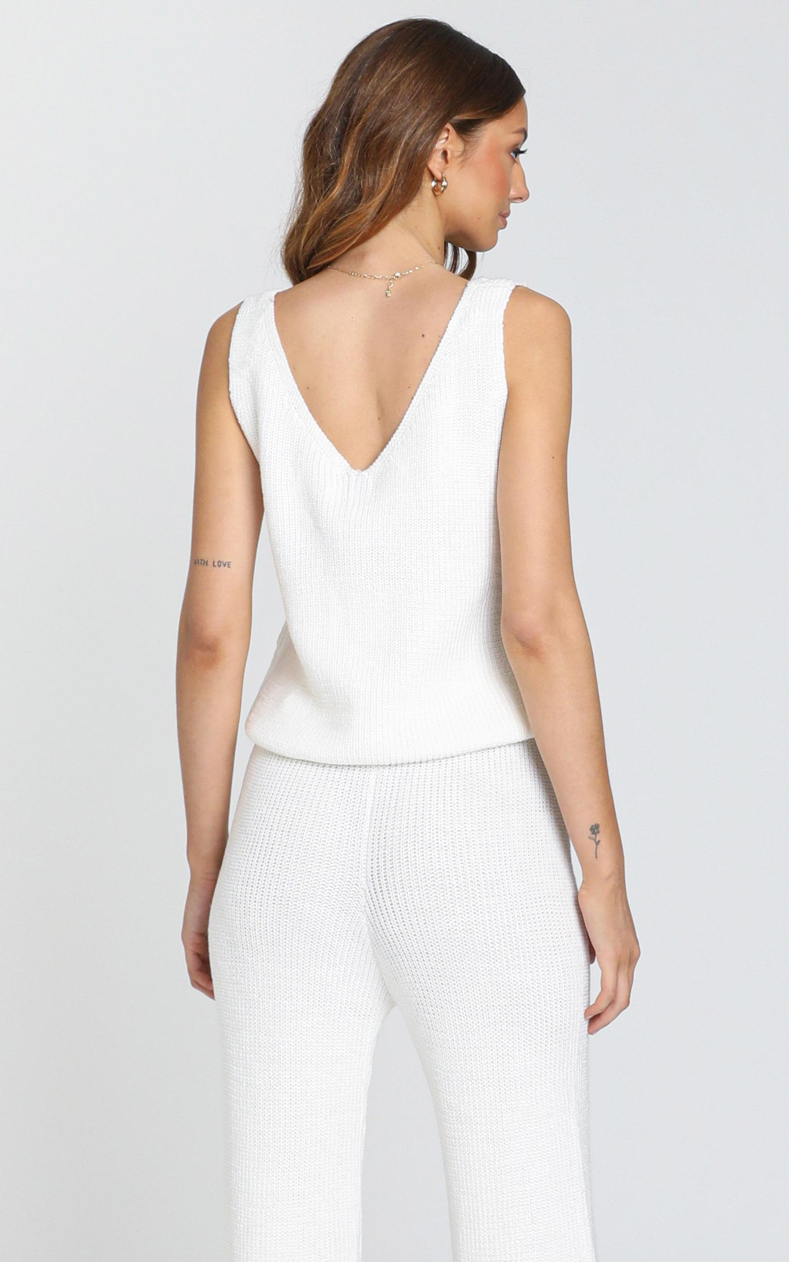 Luxe Lounge Knit Vest in Cream - S/M, Cream, hi-res image number null