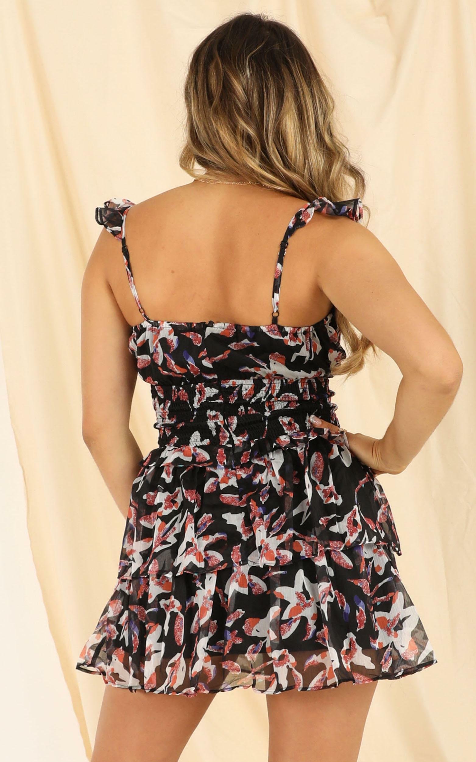 By The Water dress in black floral - 6 (XS), Black, hi-res image number null