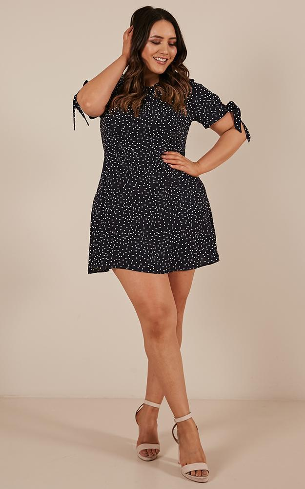 Too Cute For You Dress In navy spot - 6 (XS), Navy, hi-res image number null
