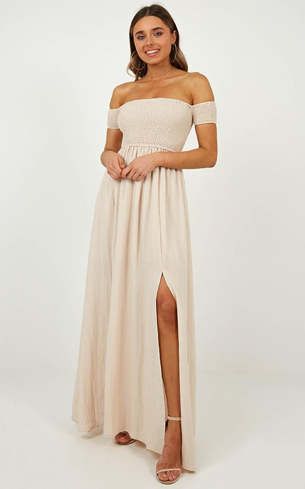 Game Changing Maxi Dress in Natural linen look - 6 (XS), Beige, hi-res image number null