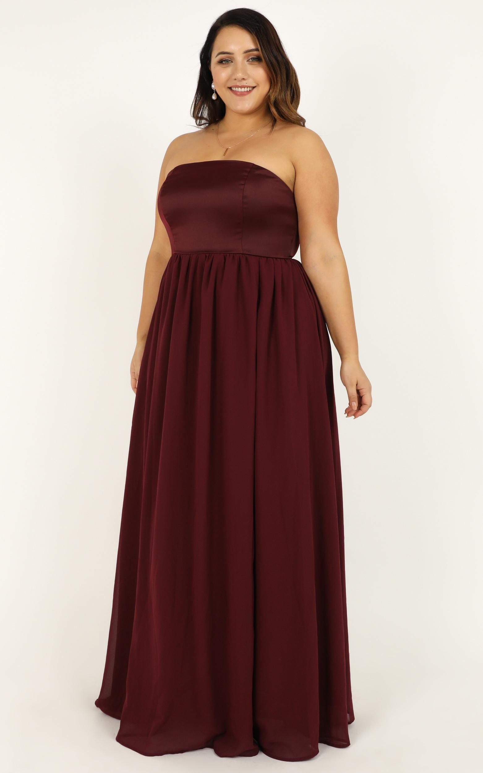 Love Bound Maxi Dress  in wine - 20 (XXXXL), Wine, hi-res image number null