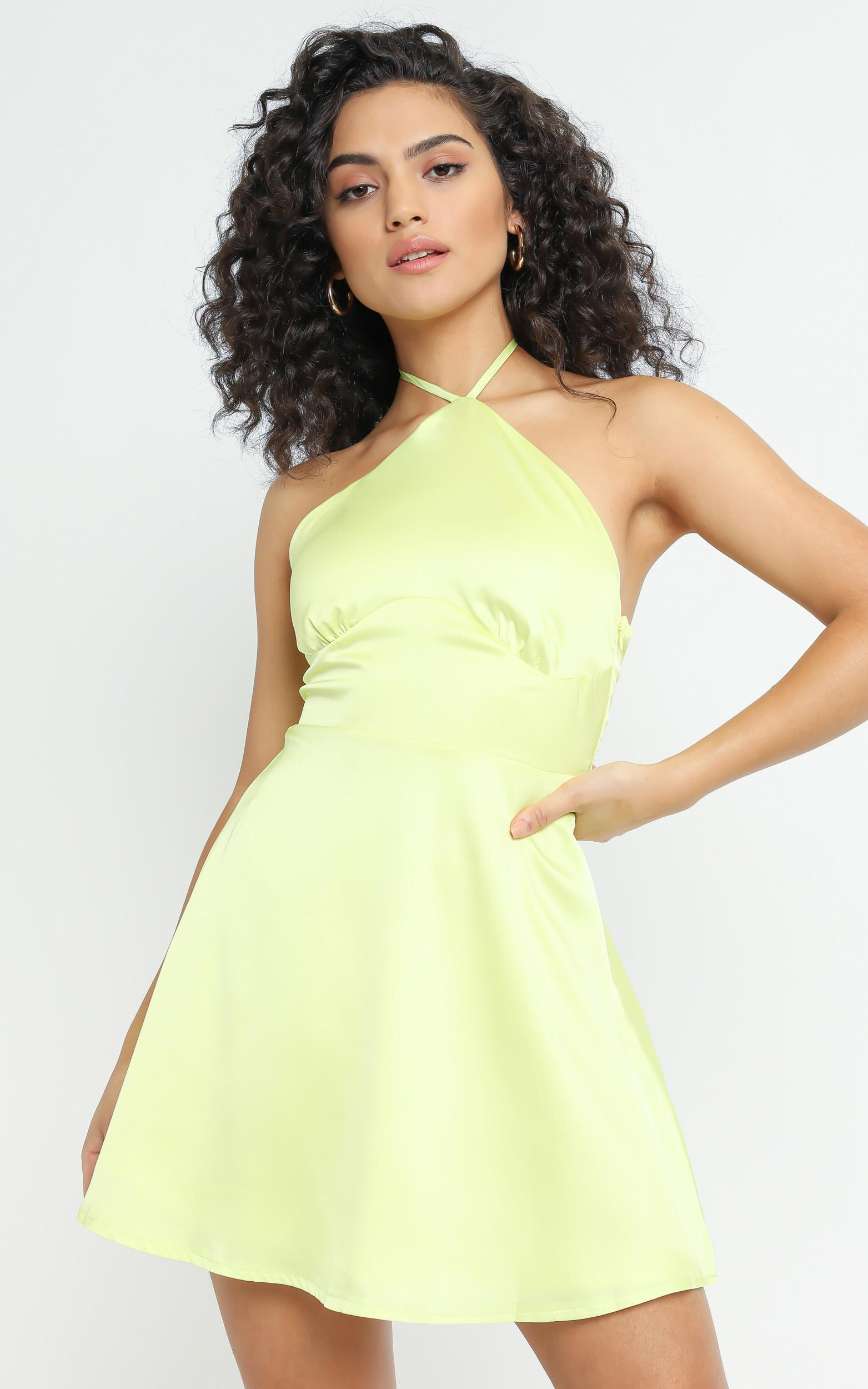 Nerolia Dress in Lime Green - 6 (XS), GRN6, hi-res image number null