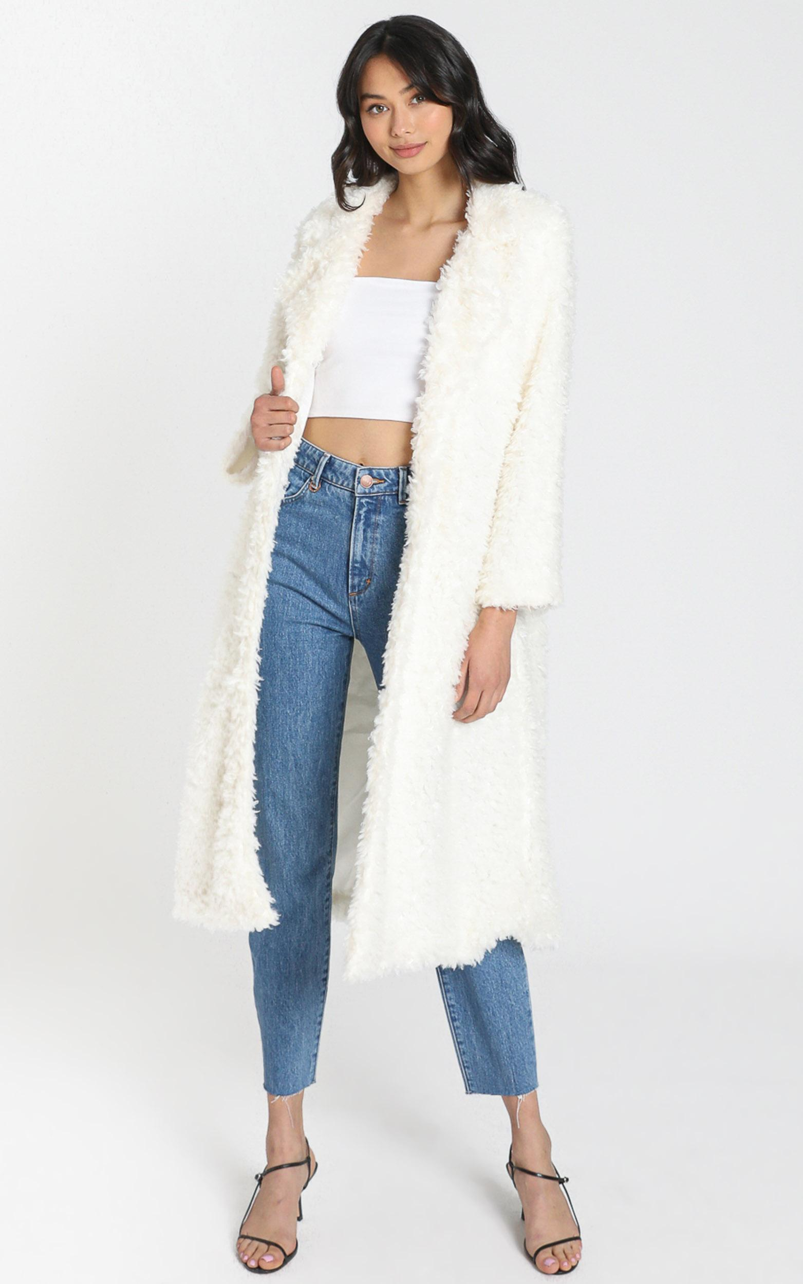Ashley Coat in Off White - S, White, hi-res image number null