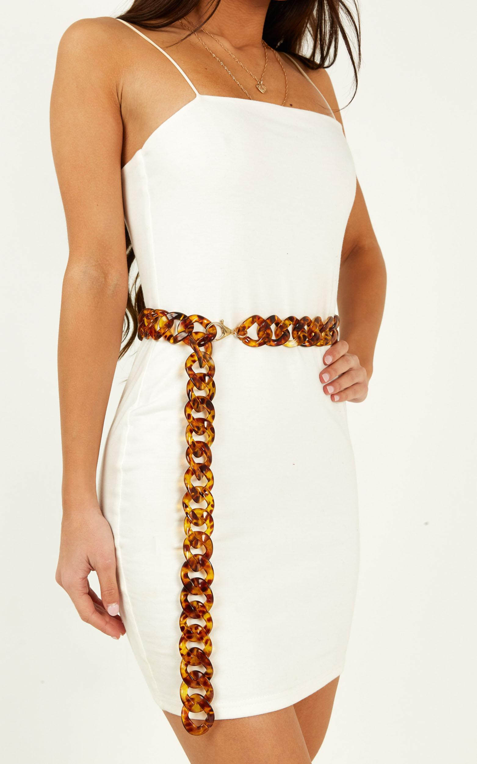 Lost Stars Chain Belt In Tortoiseshell, , hi-res image number null