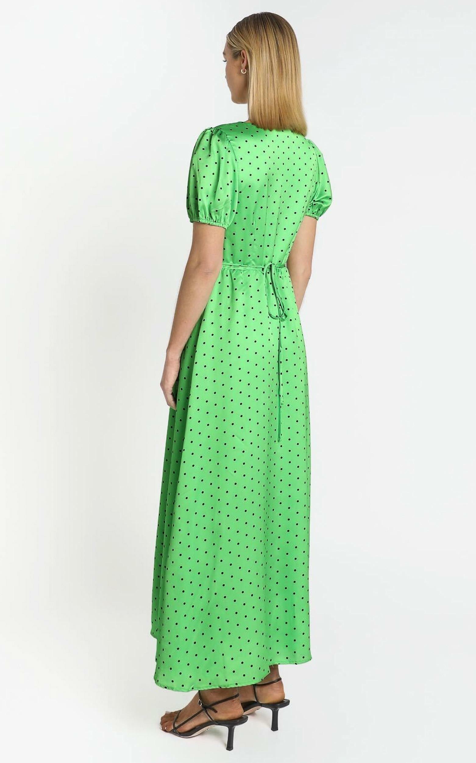 Kori Midi Dress in green polka - 6 (XS), GRN1, hi-res image number null