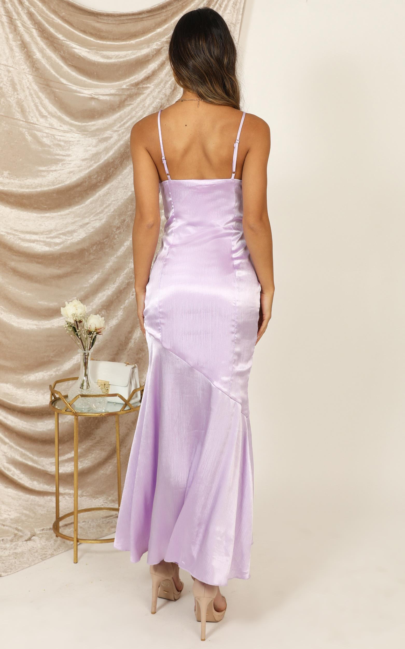 A Touch Of Your Love Dress in lilac satin - 20 (XXXXL), Purple, hi-res image number null
