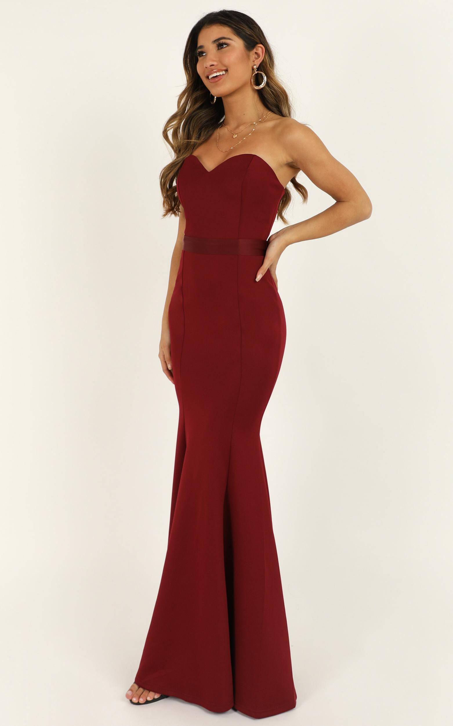 Lasting Moment Maxi Dress in wine - 20 (XXXXL), Wine, hi-res image number null