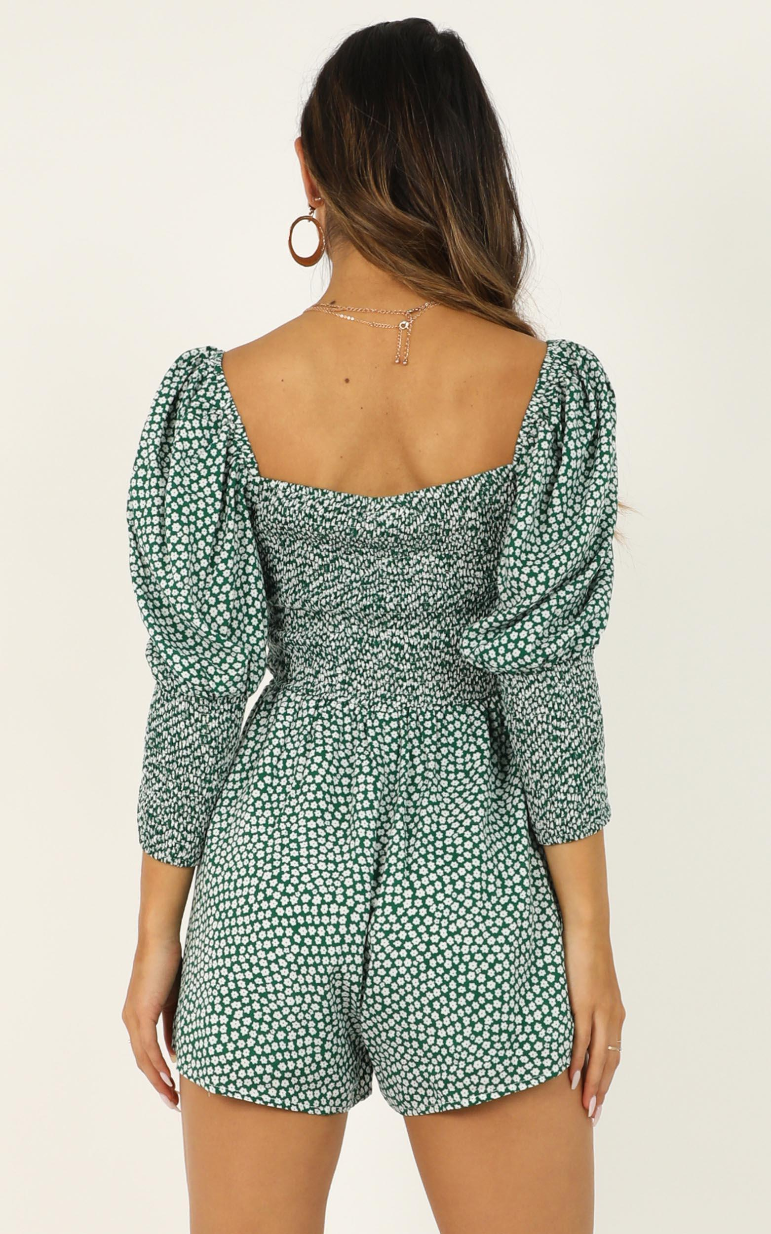 Beauty is Within Us Playsuit in green - 12 (L), Green, hi-res image number null