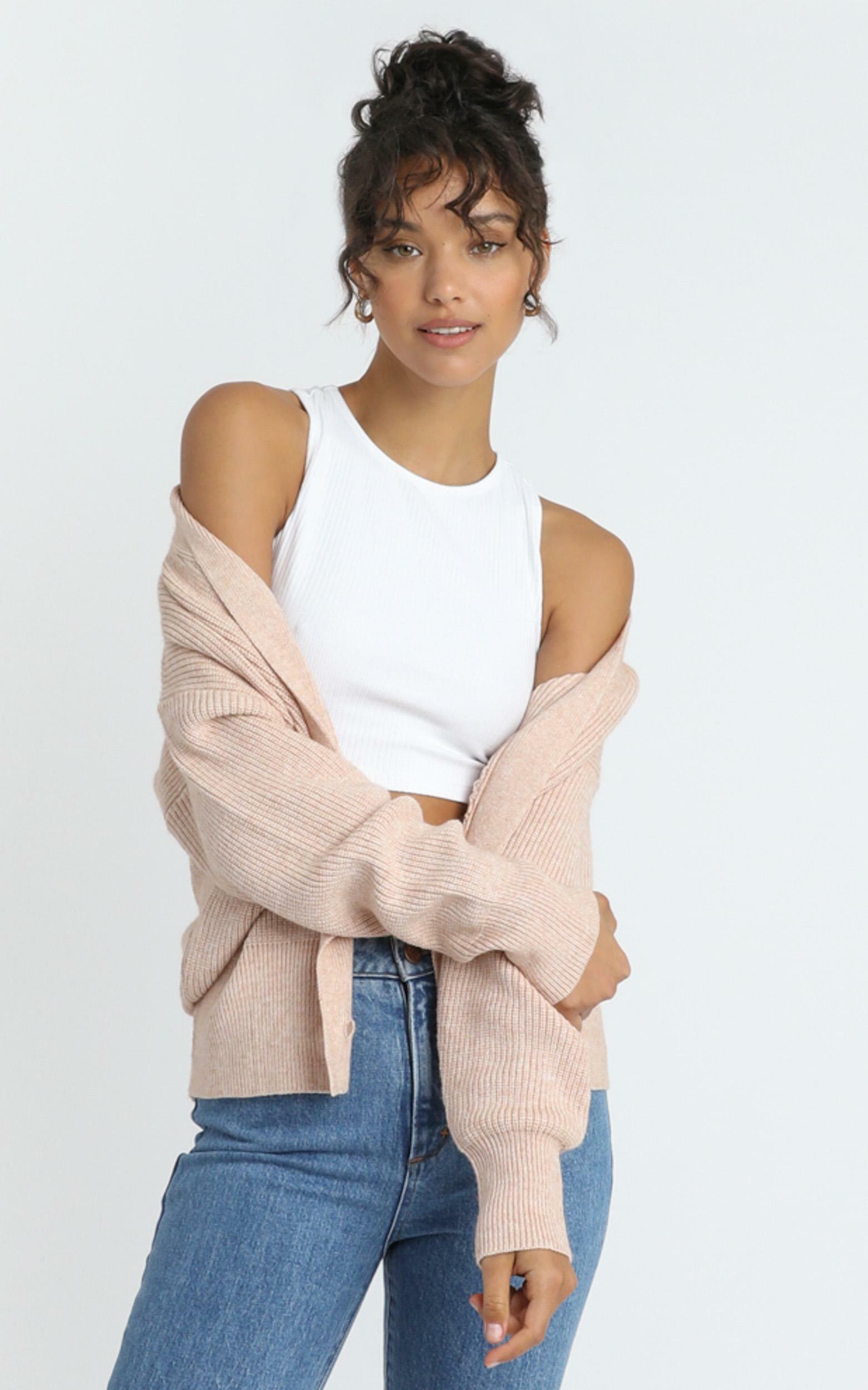 Original Trendsetter Knit Cardigan in Blush - S/M, Blush, hi-res image number null