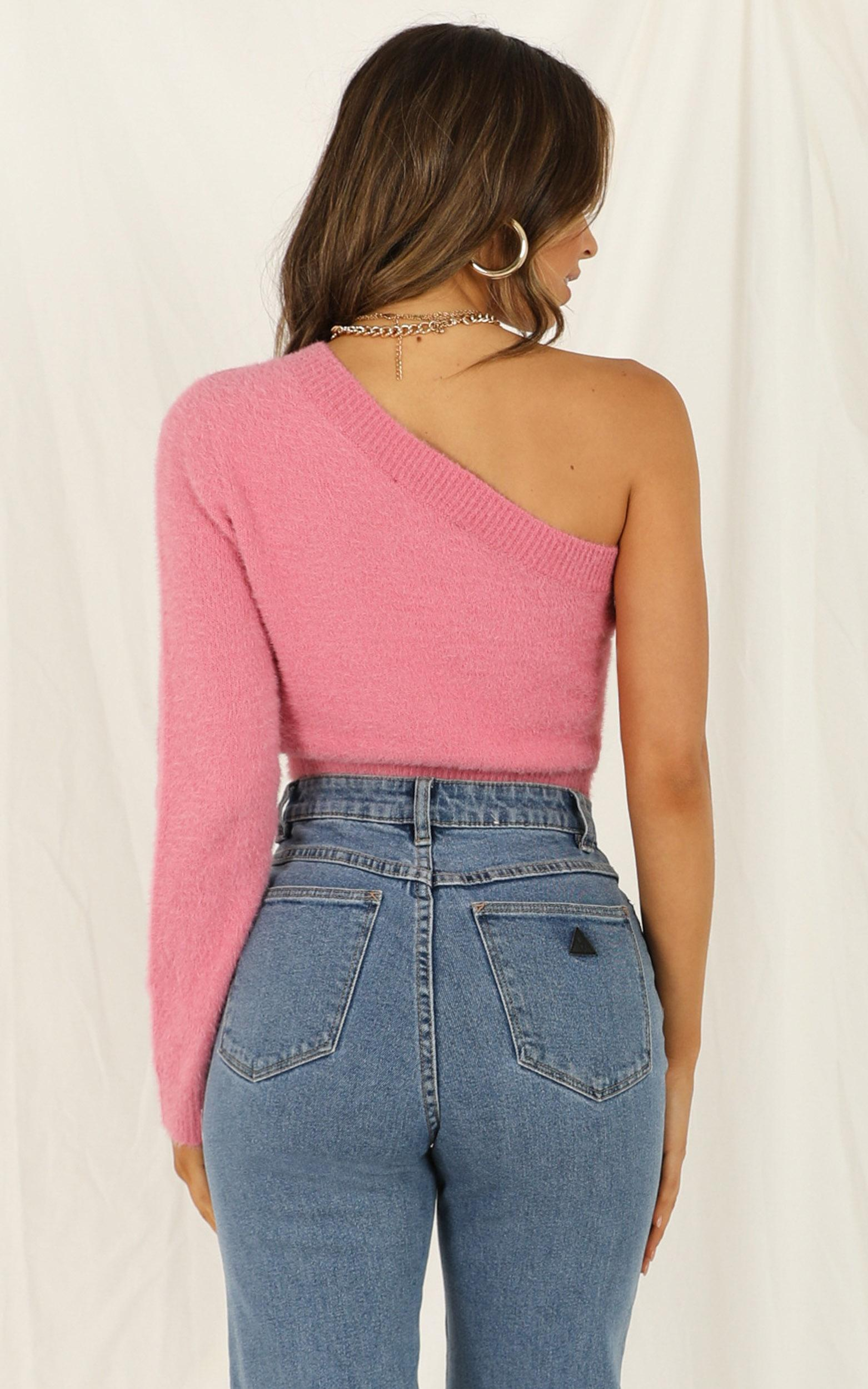 Beautiful Wreck knit top in hot pink - 12 (L), Pink, hi-res image number null