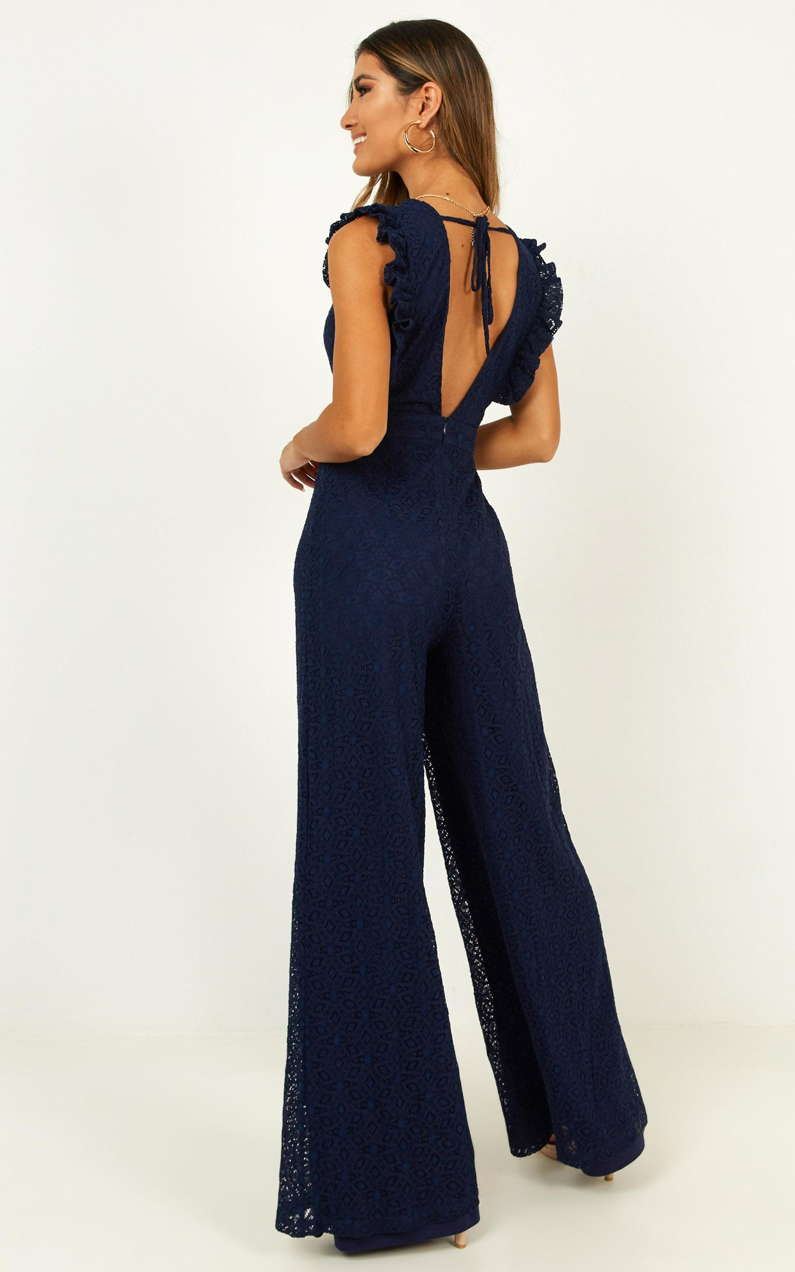 If You Wanna Jumpsuit in navy lace - 20 (XXXXL), Navy, hi-res image number null