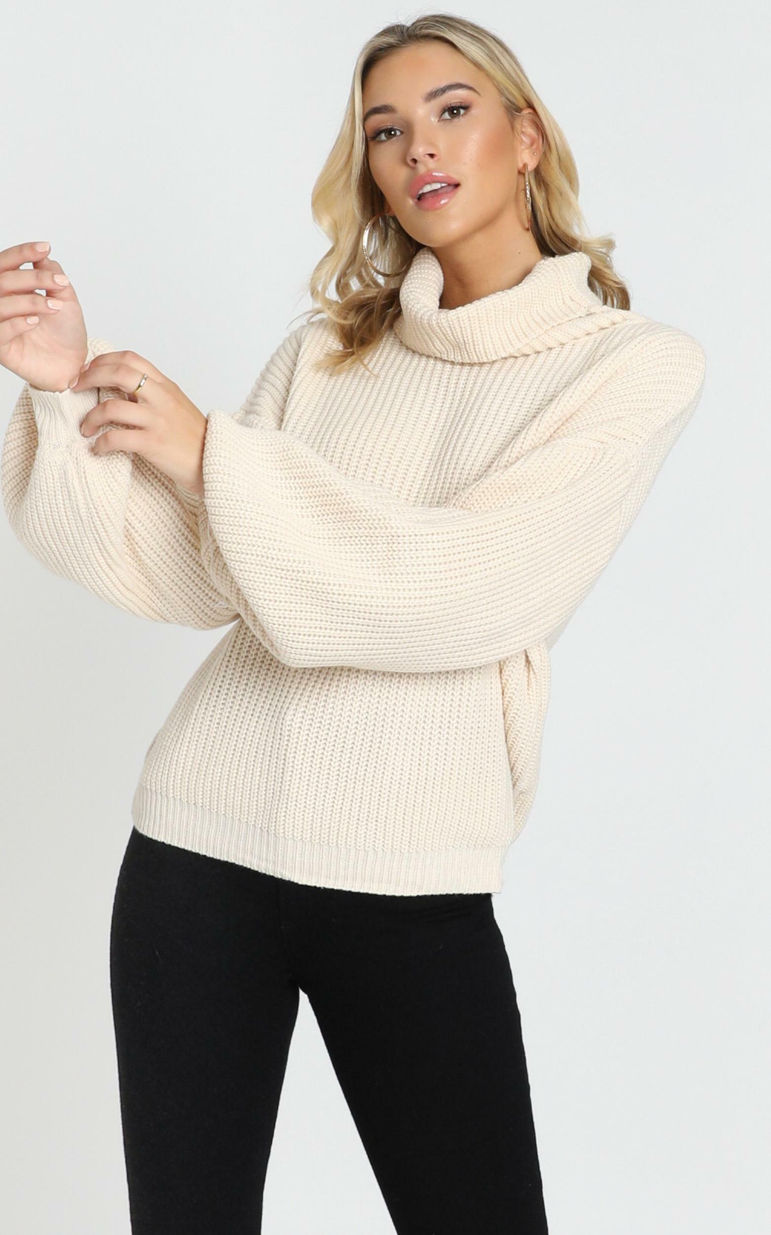 Steam Ahead Knit Jumper in cream - 20 (XXXXL), Cream, hi-res image number null