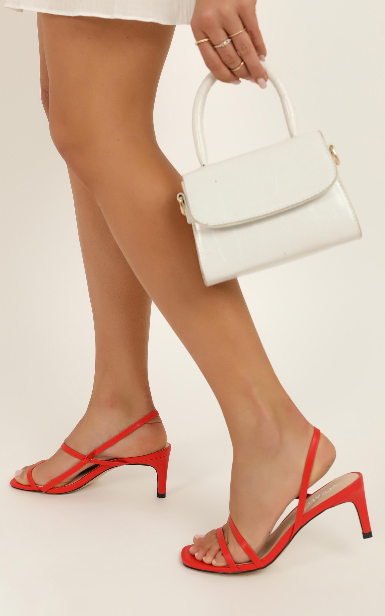 Verali - Valeria Heels in red smooth - 5, Red, hi-res image number null