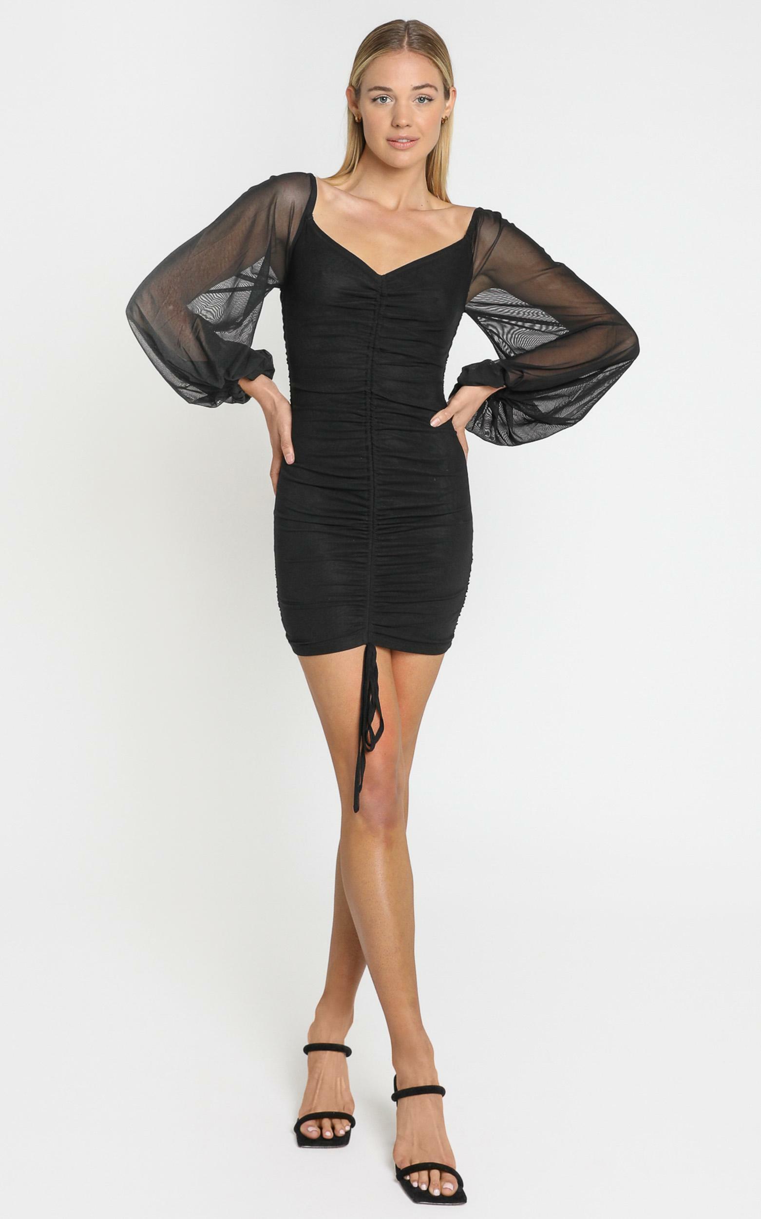 Jamila Dress in Black - 6 (XS), Black, hi-res image number null