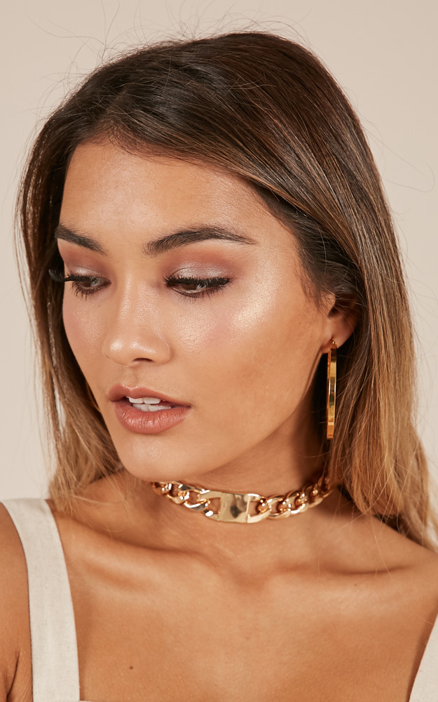 See You Try choker in gold, , hi-res image number null