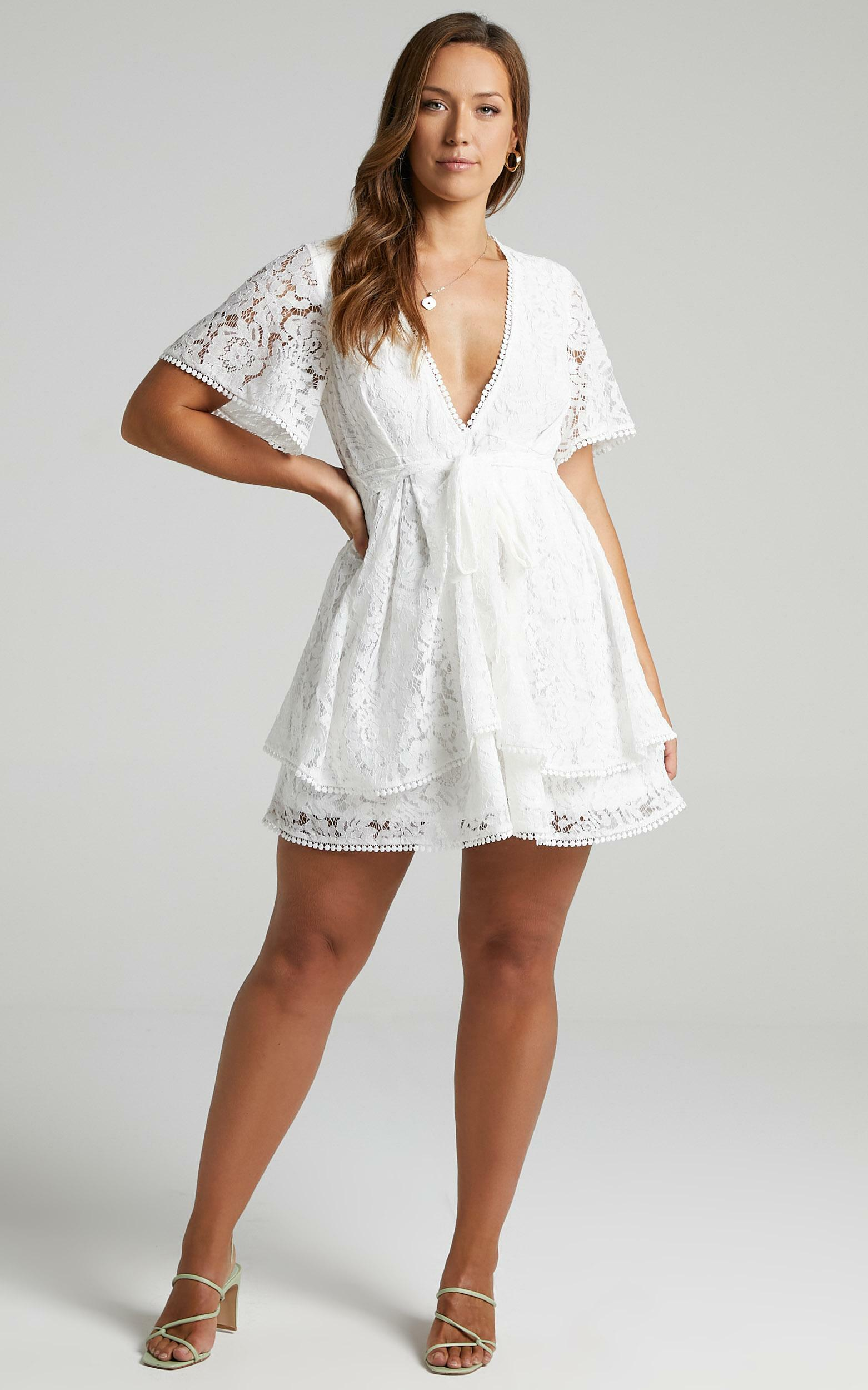 Do You Miss Me Dress in White Lace - 20, WHT3, hi-res image number null