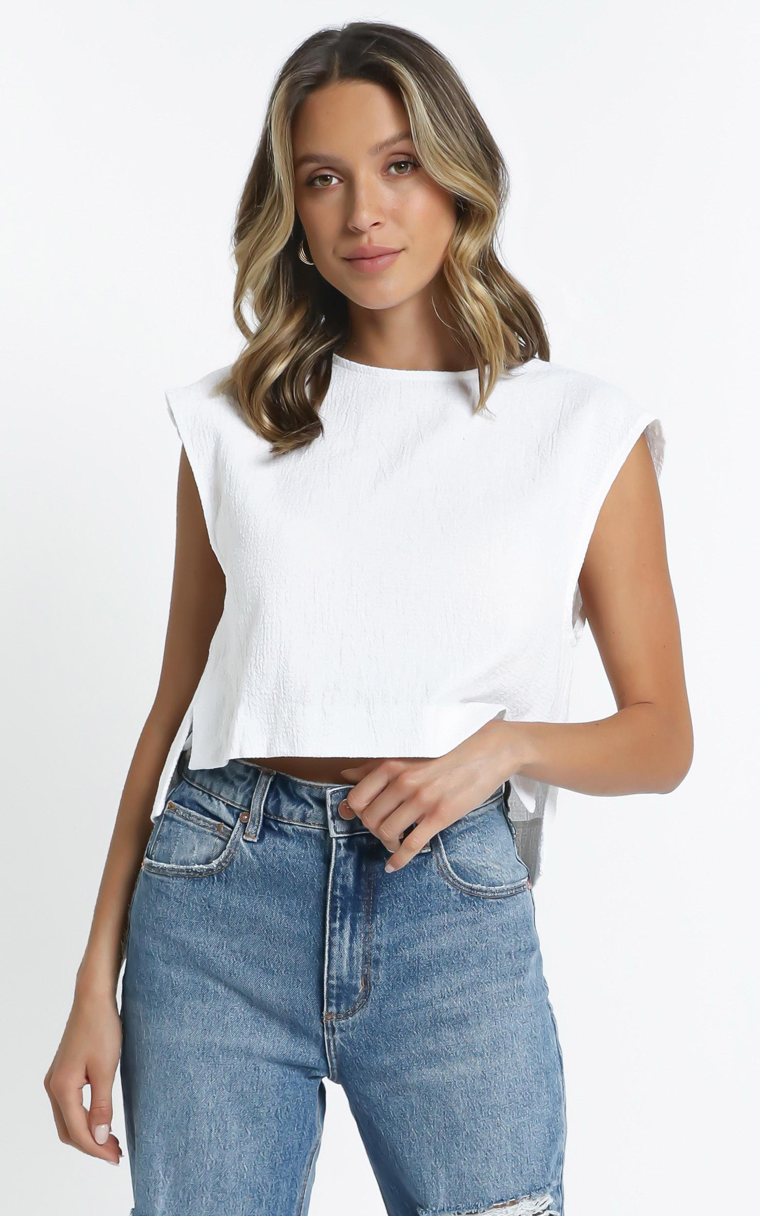 Bronwen Top in White - 12 (L), White, hi-res image number null