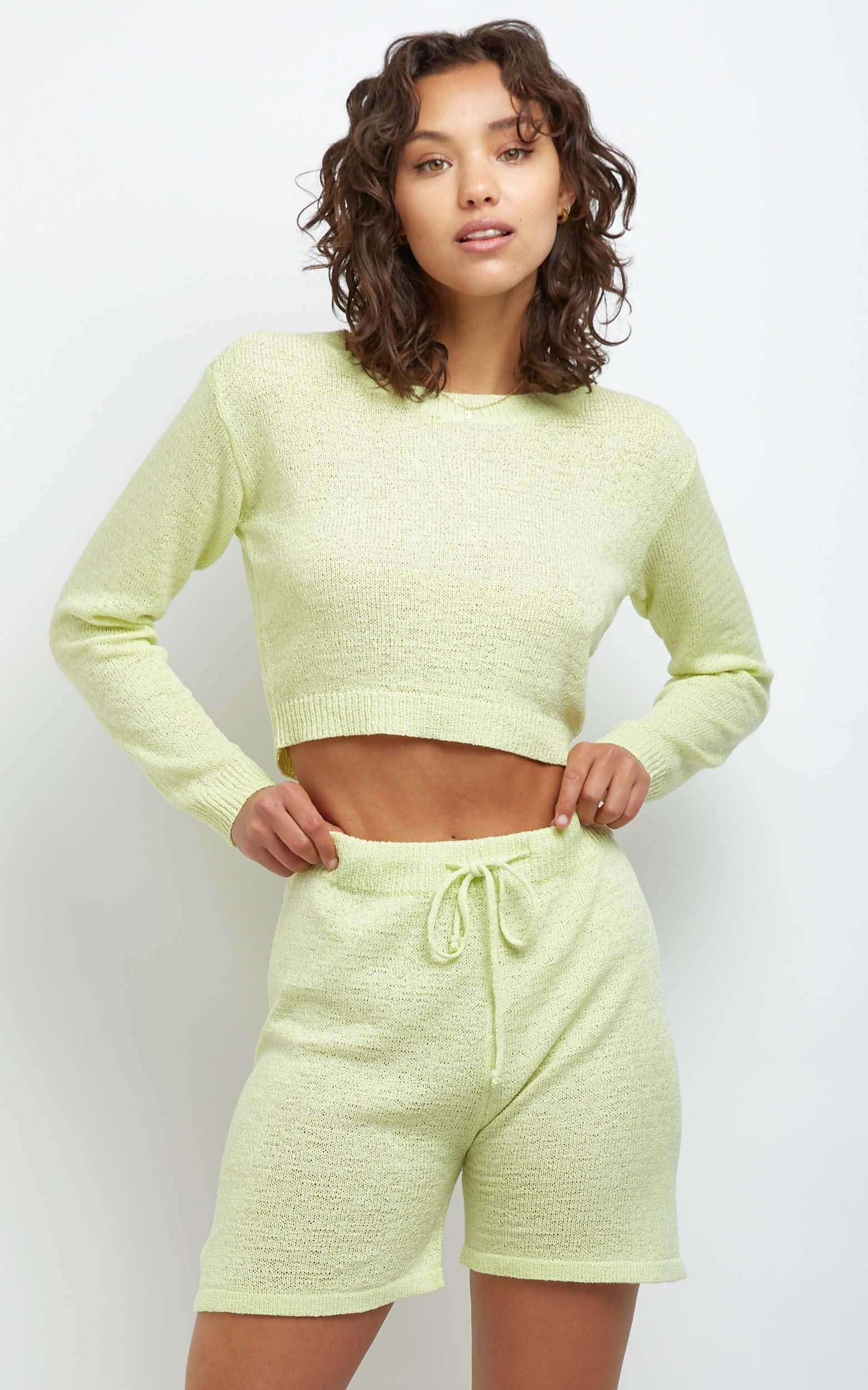 Dacia Knit Top in Yellow - L, Yellow, hi-res image number null