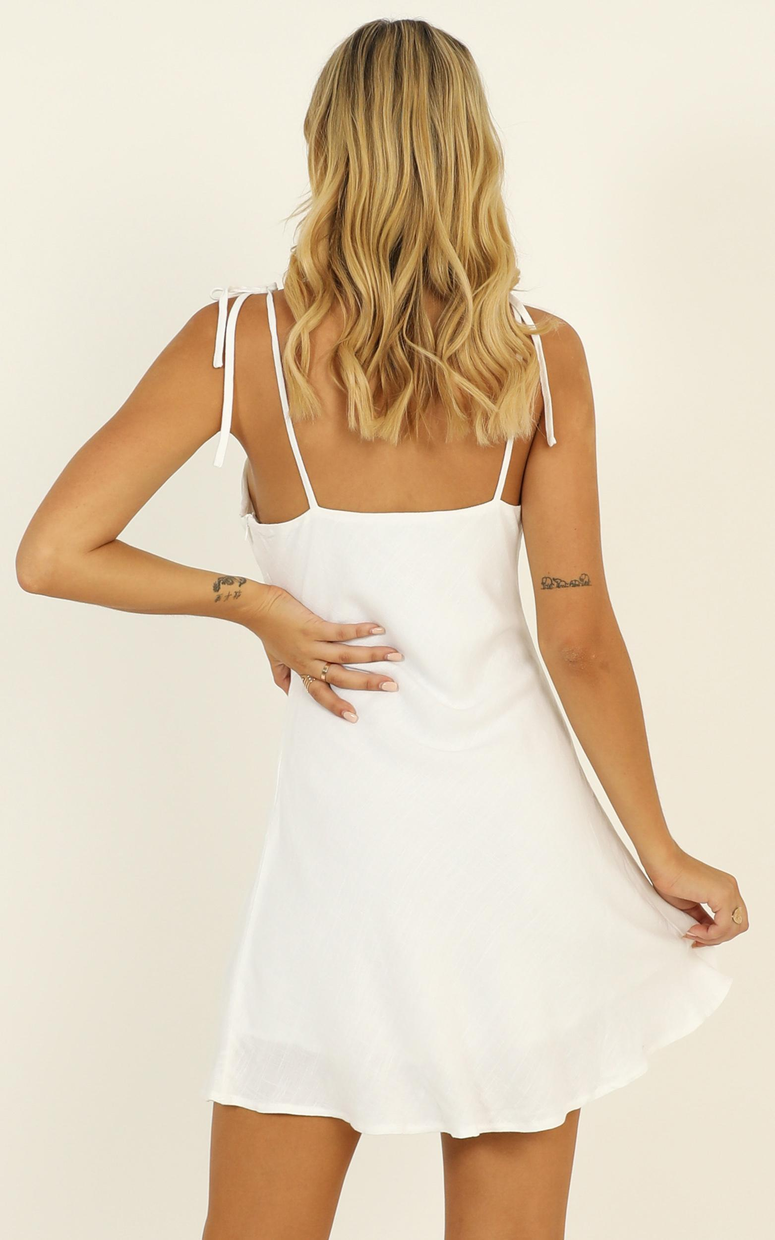 Pretty Mind Gathered Dress in white - 12 (L), White, hi-res image number null