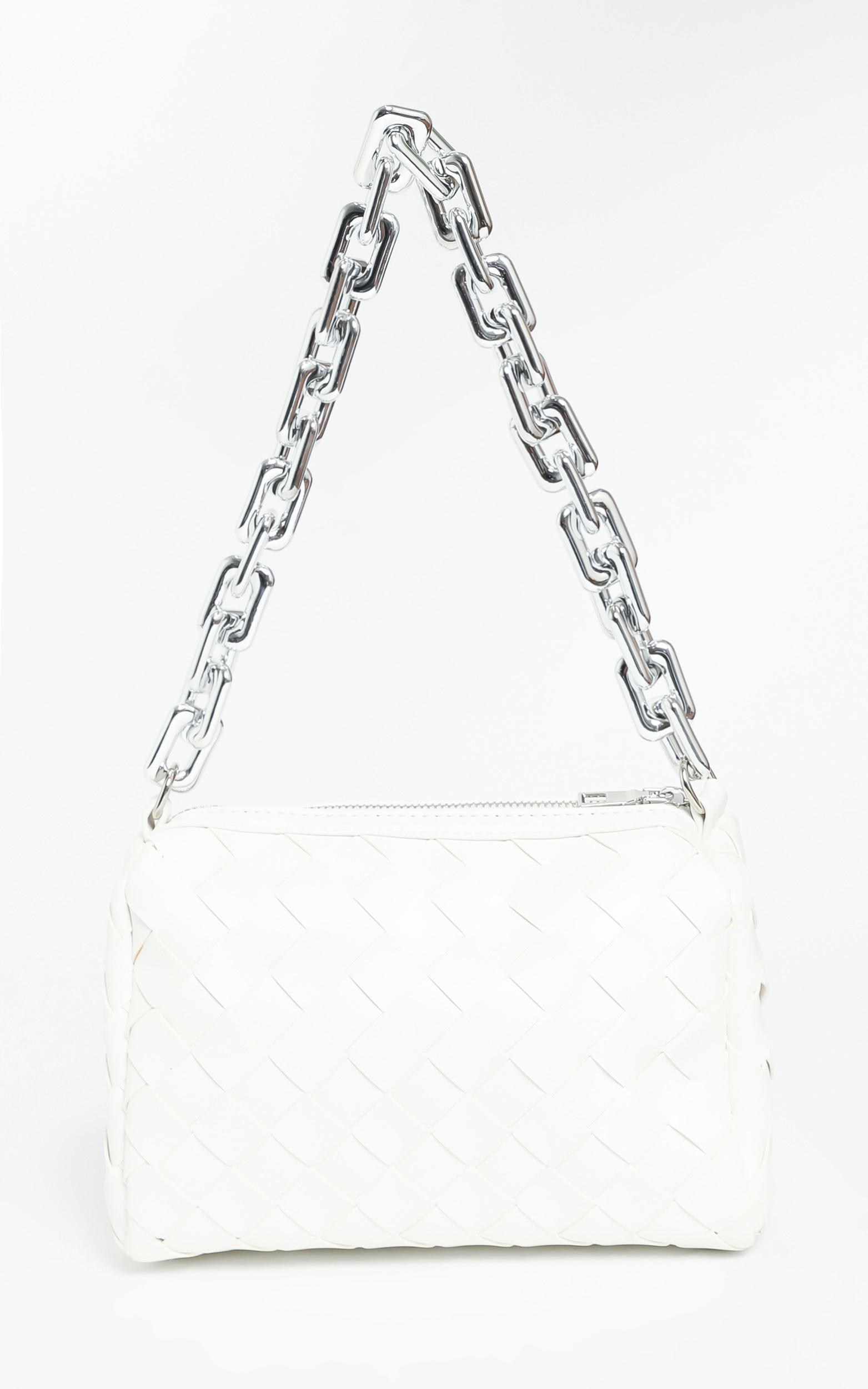 Deidra Bag in White Braided PU, , hi-res image number null