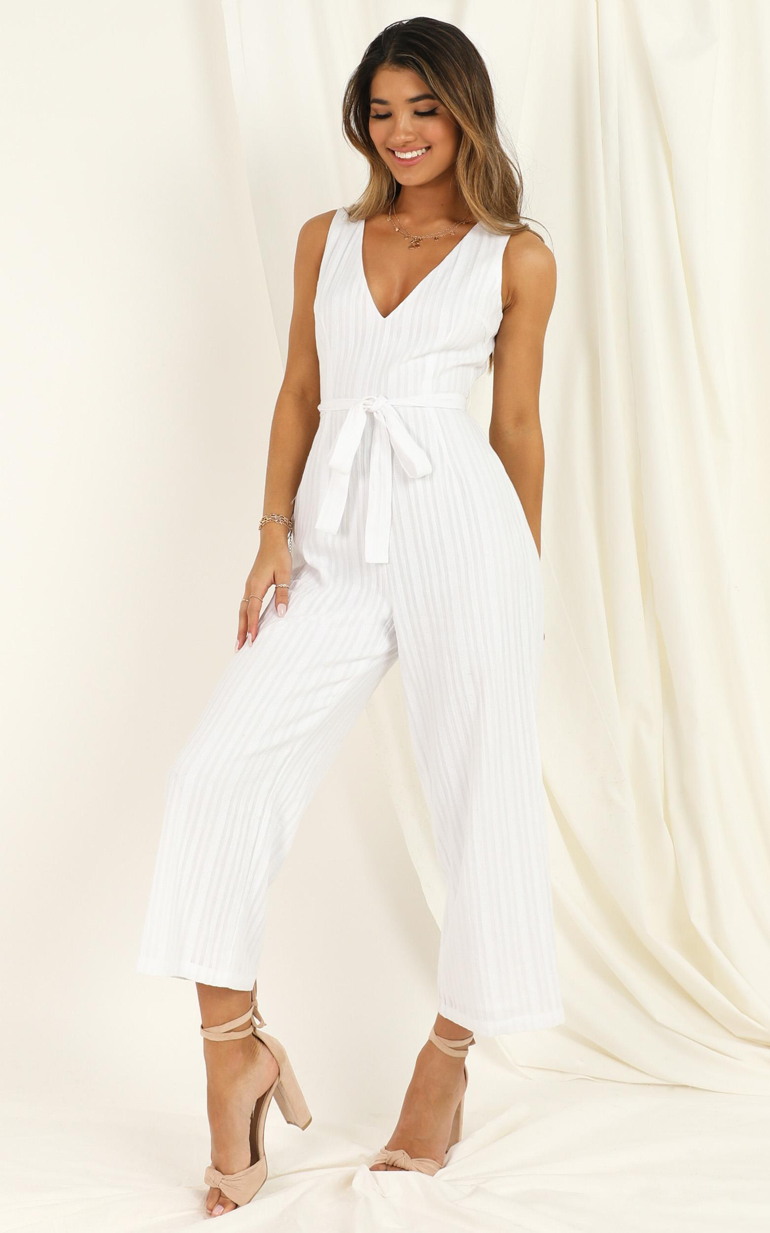 Lifting Spirits Jumpsuit in white - 20 (XXXXL), White, hi-res image number null