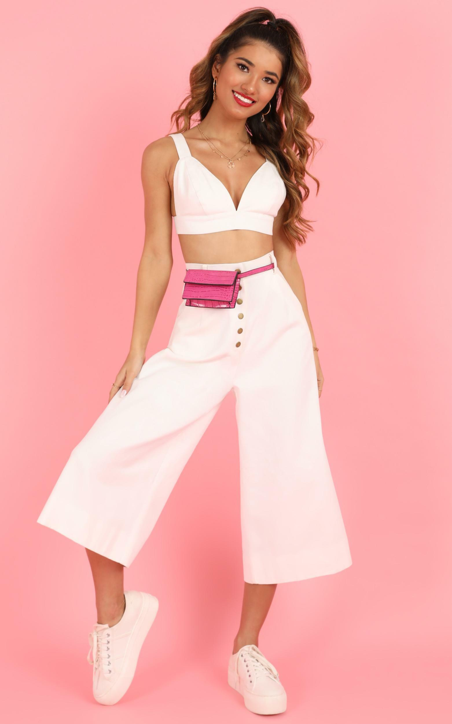 dont say a word Two Piece Set in white denim - 14 (XL), White, hi-res image number null