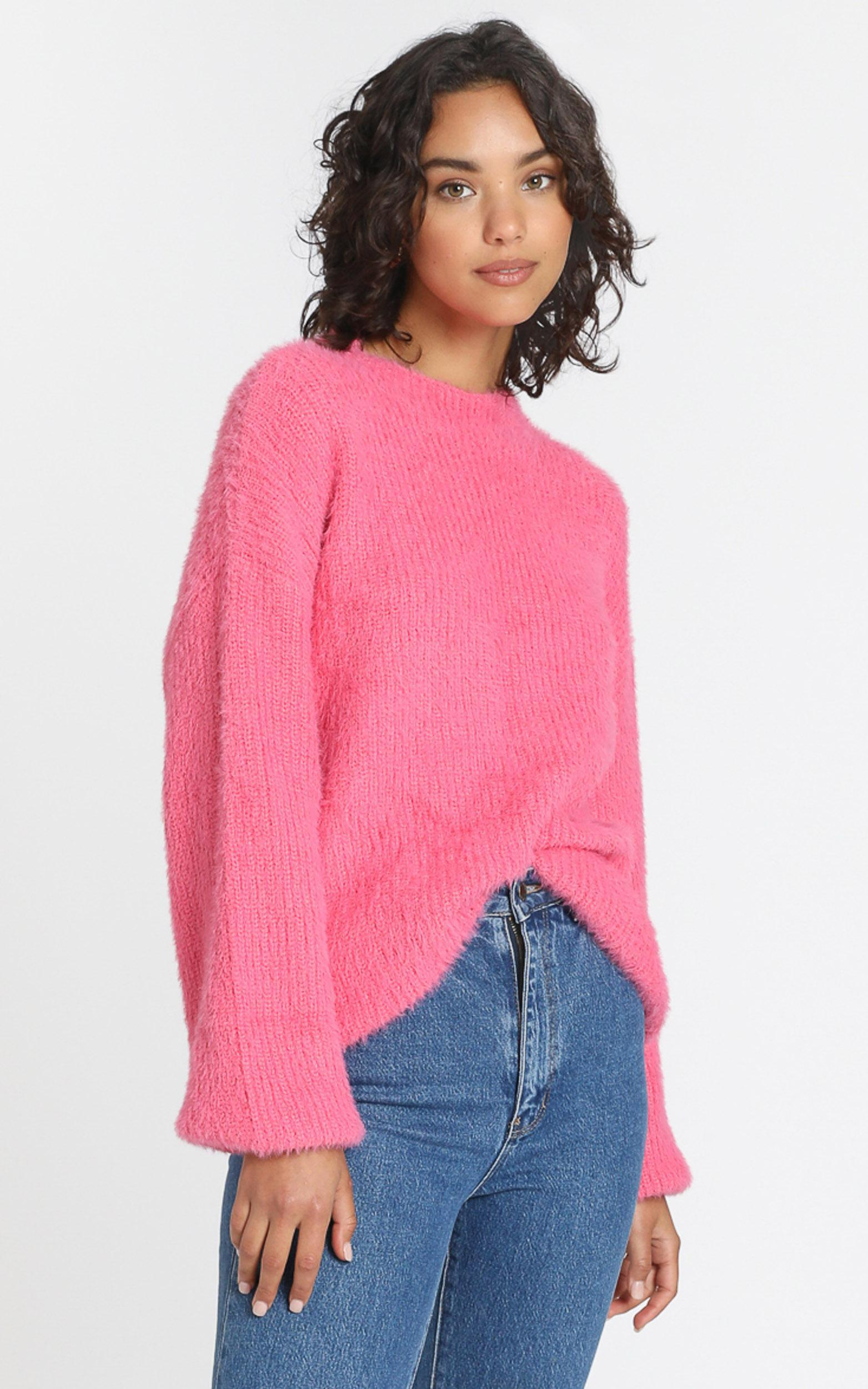 Elle Woods Knit Jumper in candyfloss - XS, Pink, hi-res image number null