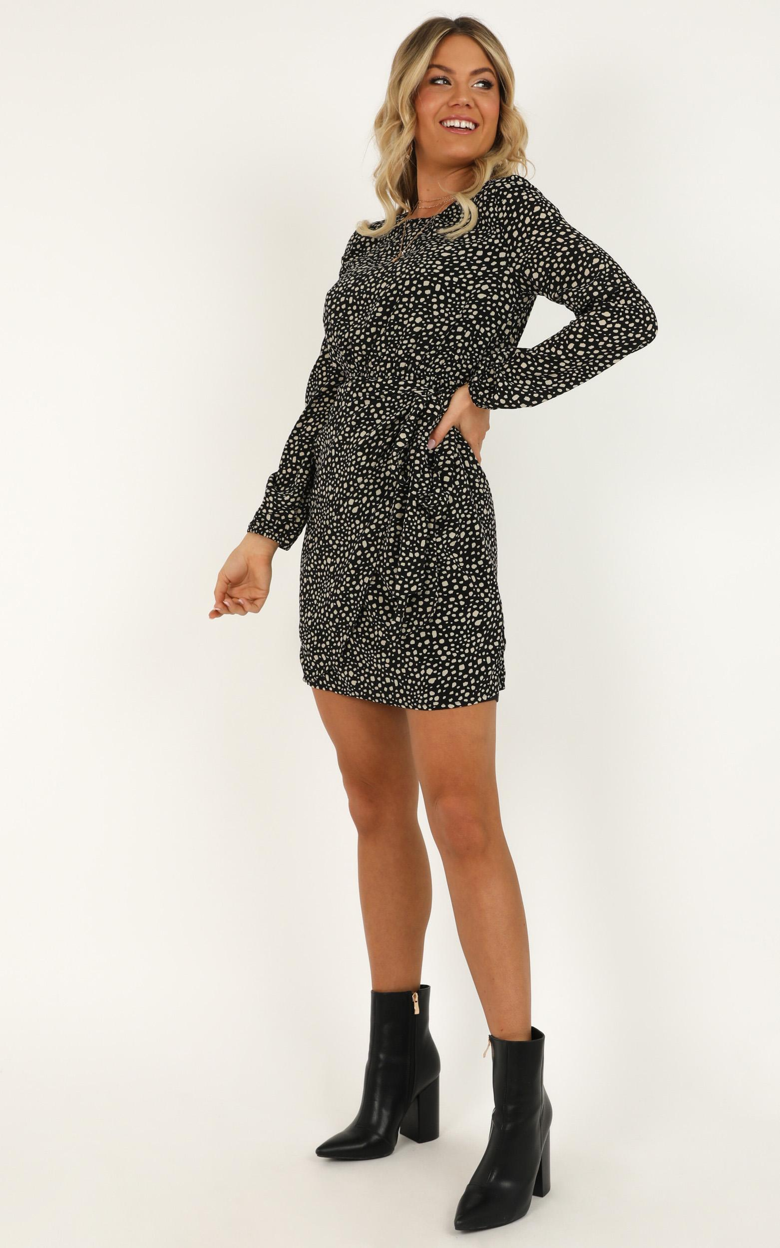 One Last Chance Dress in black print - 20 (XXXXL), Black, hi-res image number null