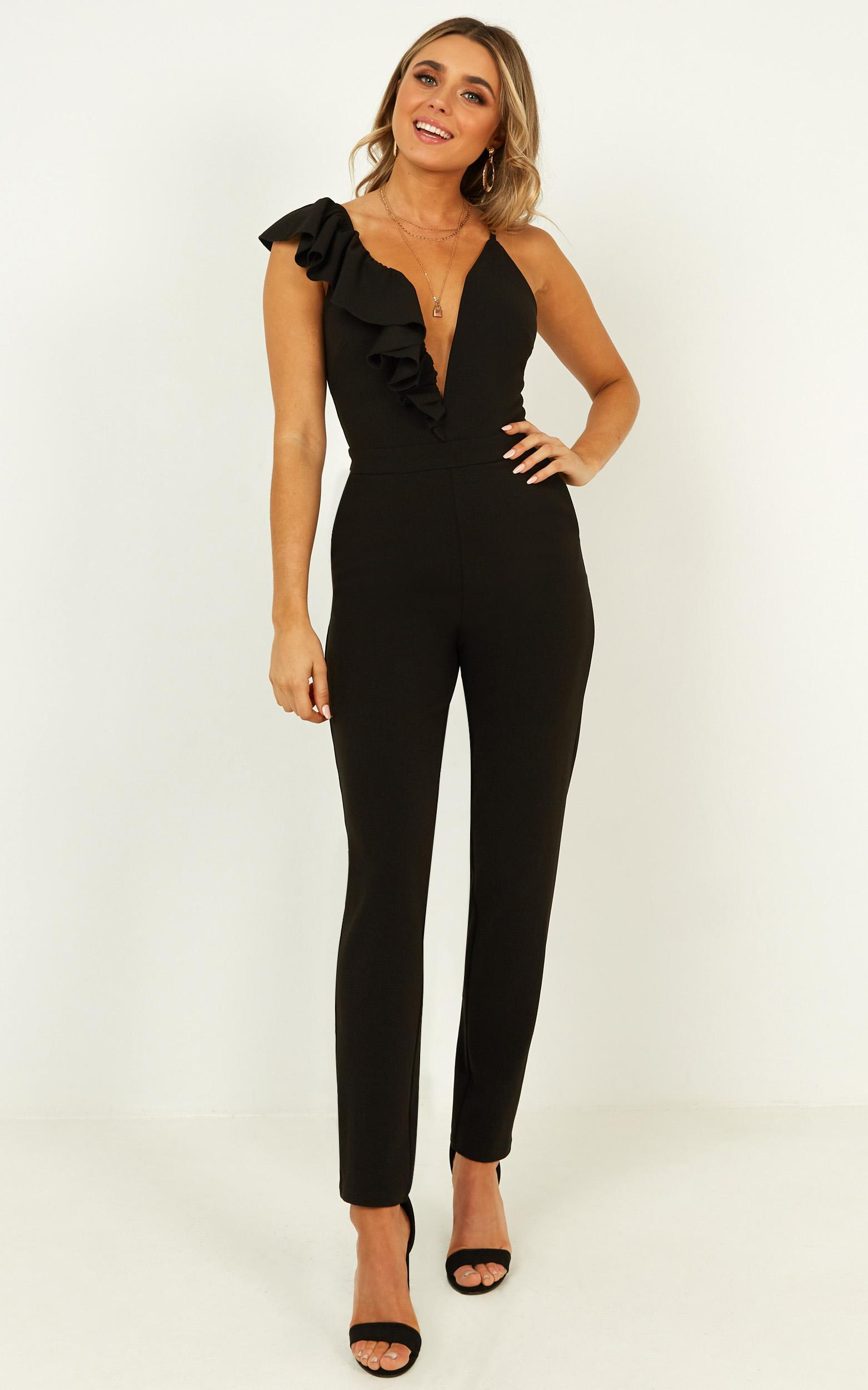 Jump in jumpsuit in black - 20 (XXXXL), Black, hi-res image number null