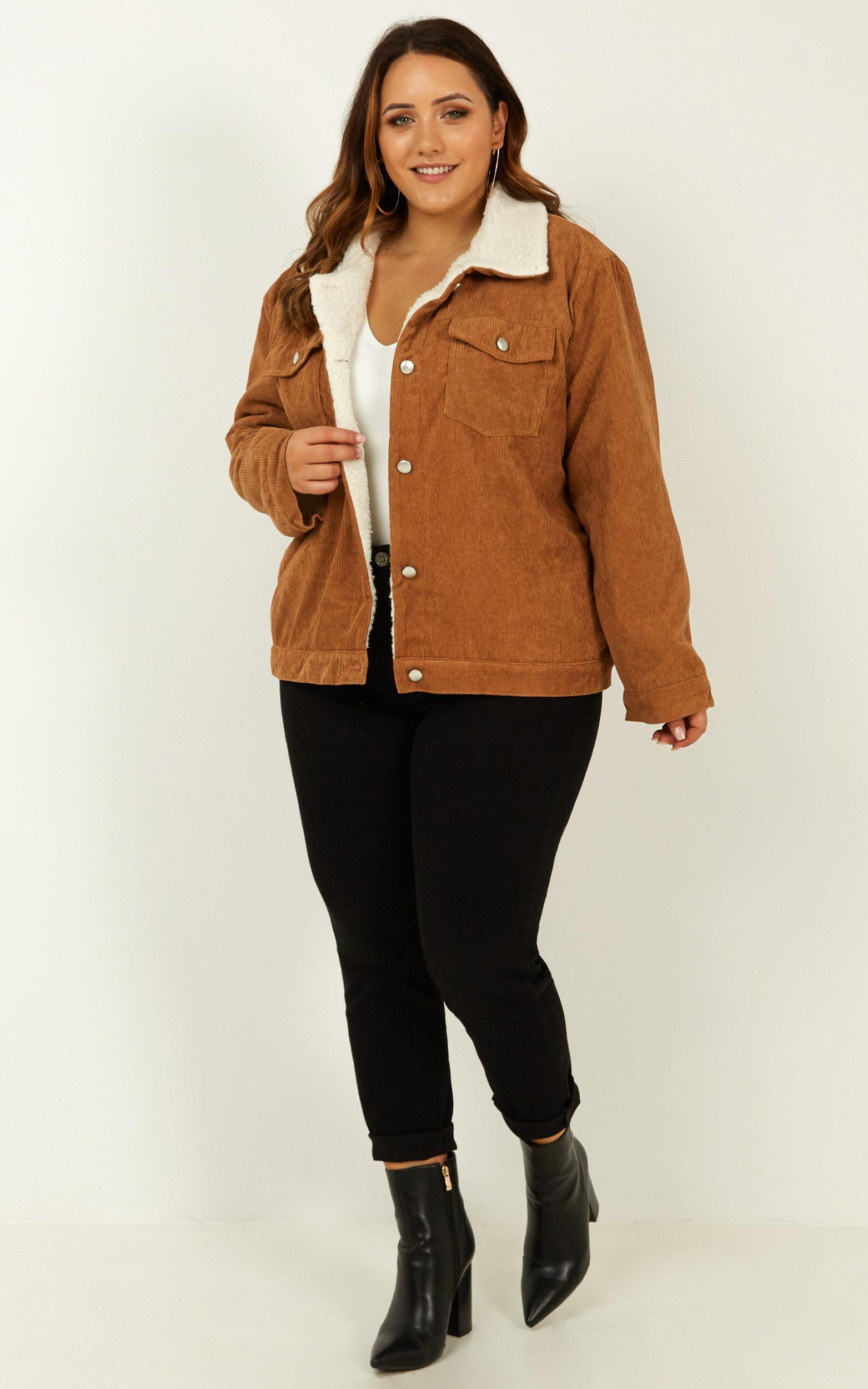 Keep it between us Jacket in camel cord - 14 (XL), Camel, hi-res image number null