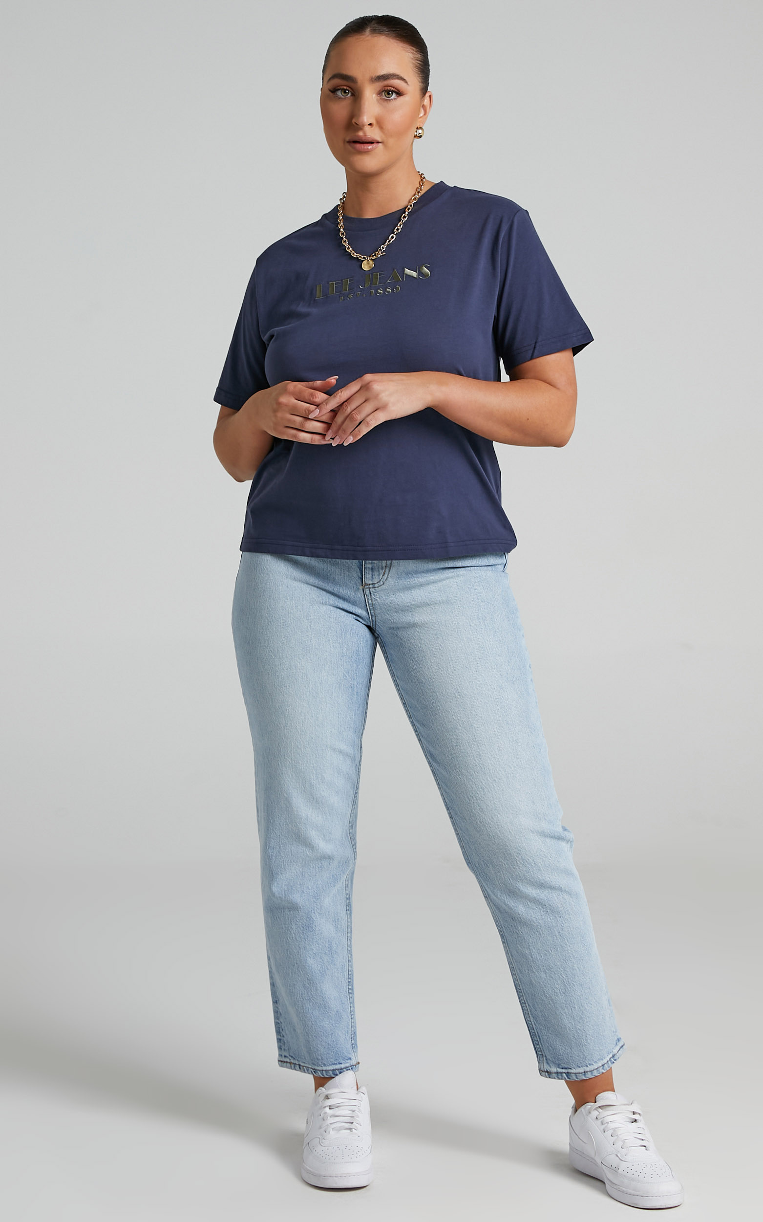 Lee - Classic Tee in French Navy - 06, BLU1, hi-res image number null
