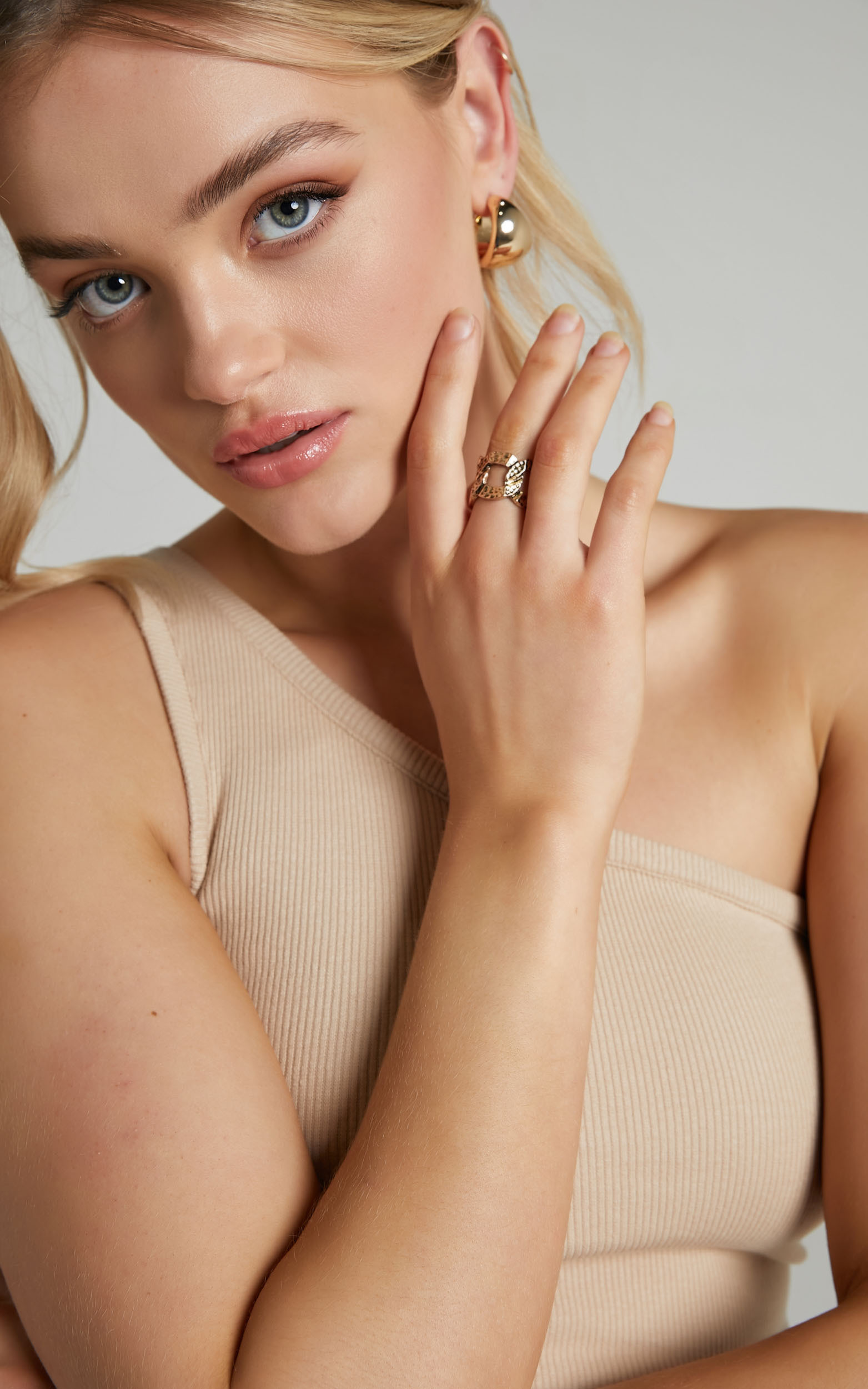 Britty Ring in Gold - NoSize, GLD1, hi-res image number null