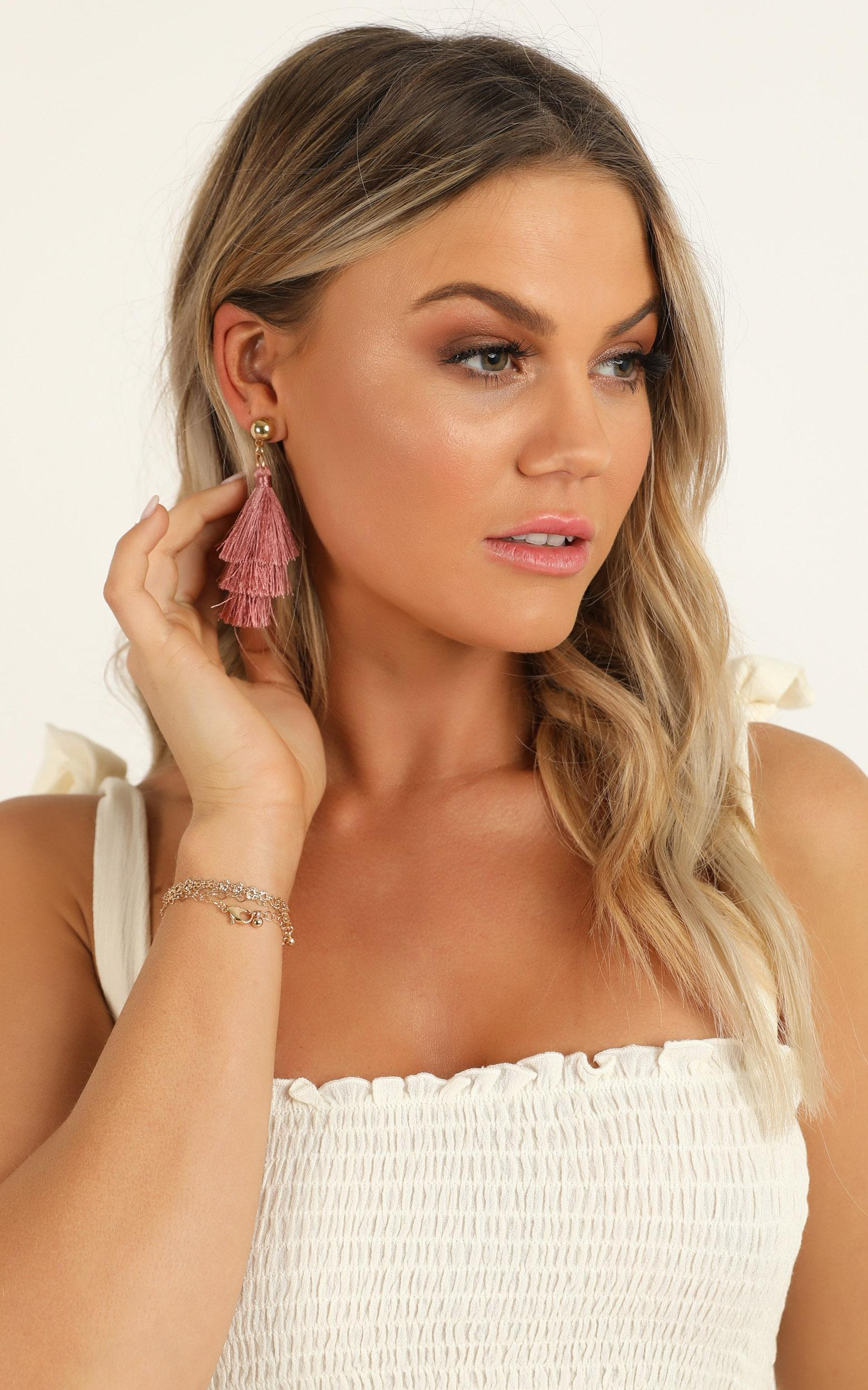 Surprise Yourself Earrings 6pc Set In Gold And Dusty Rose, , hi-res image number null