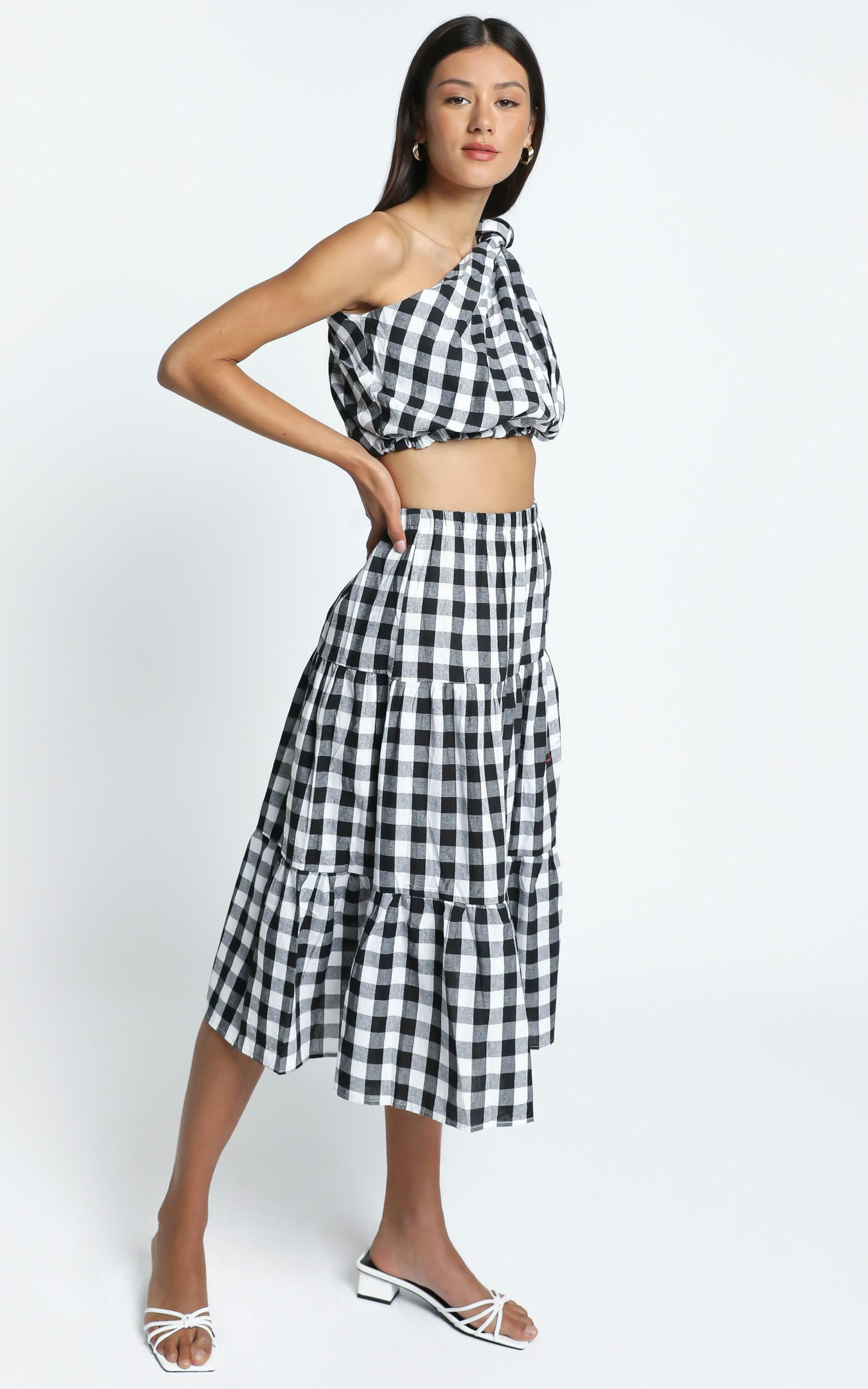 Thea Two Piece Set in Black Check - 14 (XL), Black, hi-res image number null