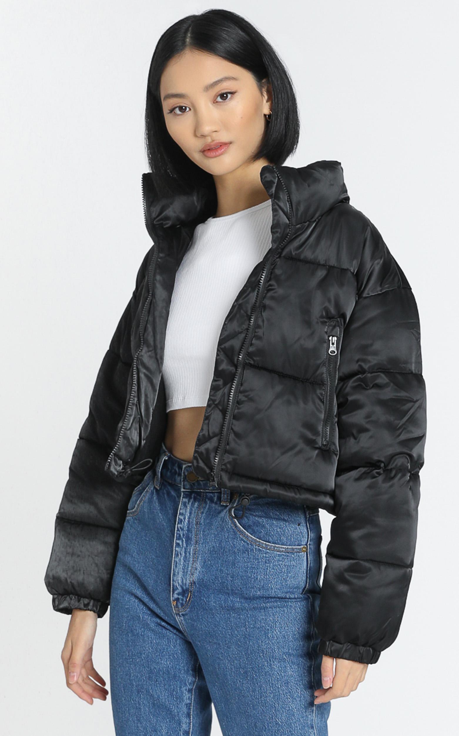 European Dream Puffer jacket in black - 8 (S), Black, hi-res image number null
