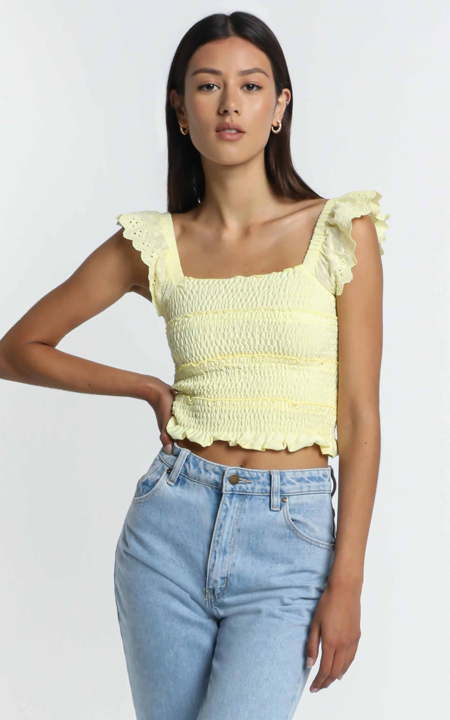 Alma Top in Pastel Yellow - 8 (S), YEL4, hi-res image number null