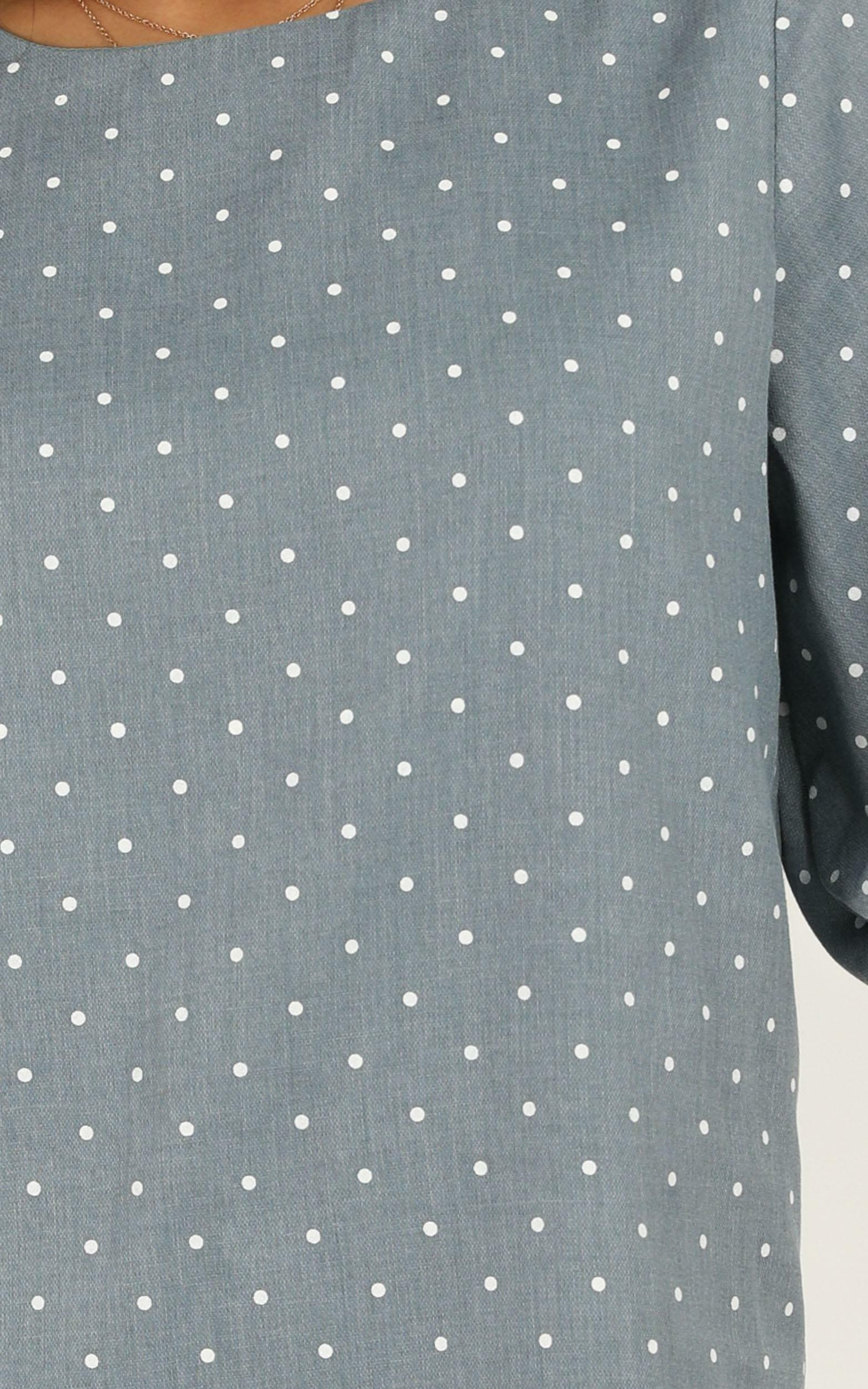 Imagine The Best Dress in blue spot - 20 (XXXXL), Blue, hi-res image number null